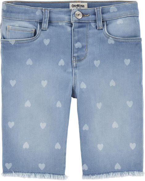 Heart Denim Skimmer Shorts by Oshkosh