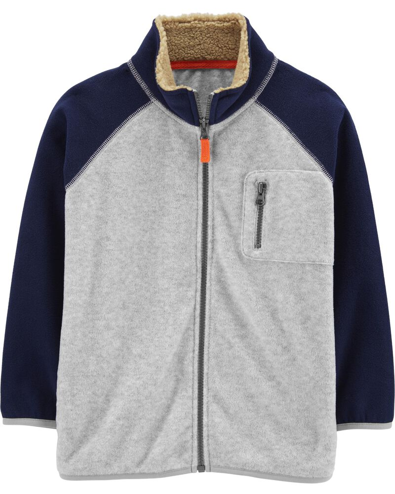 Zip-Up Fleece Jacket, , hi-res
