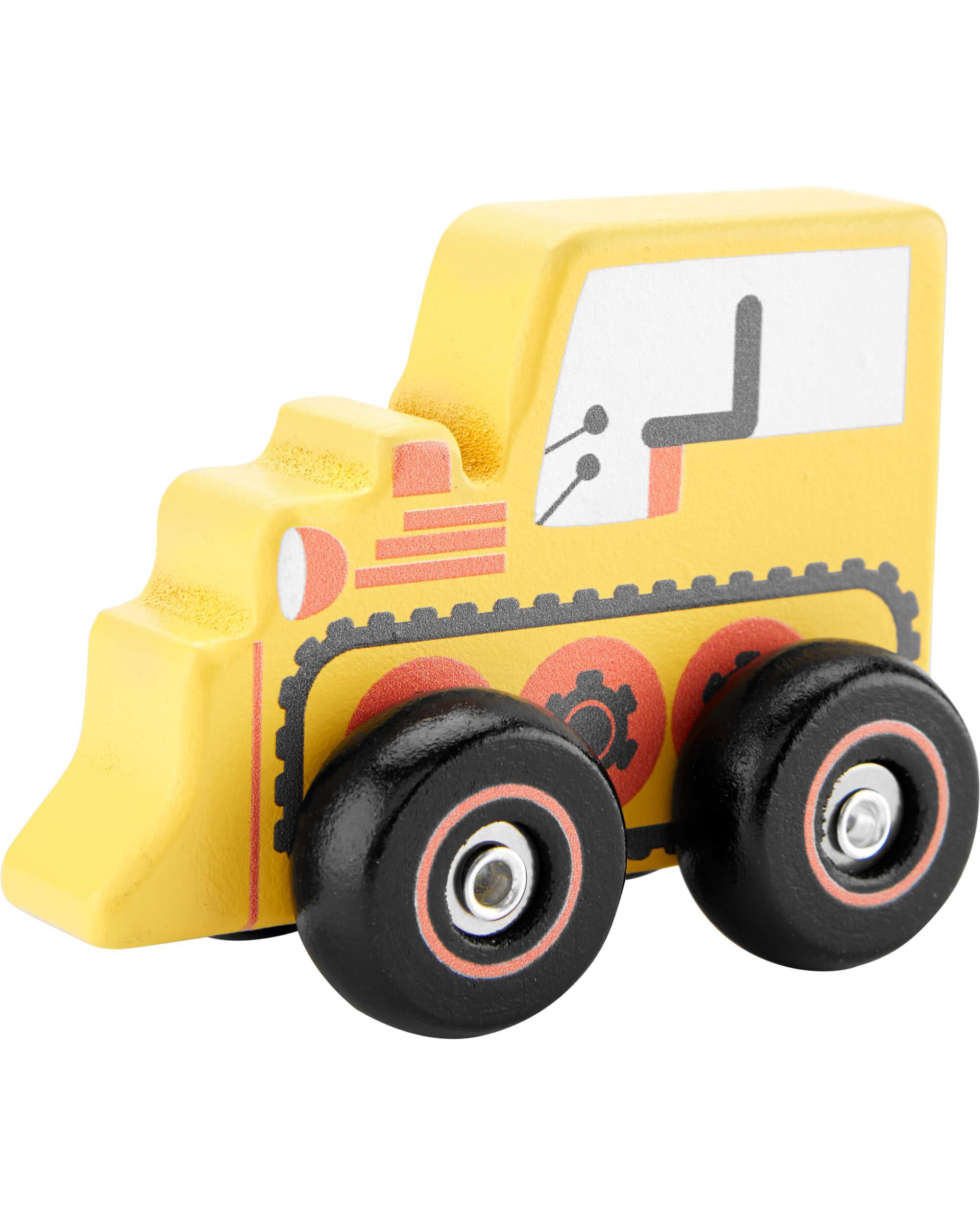 Oshkoshbgosh Bulldozer Pullback Wooden Car