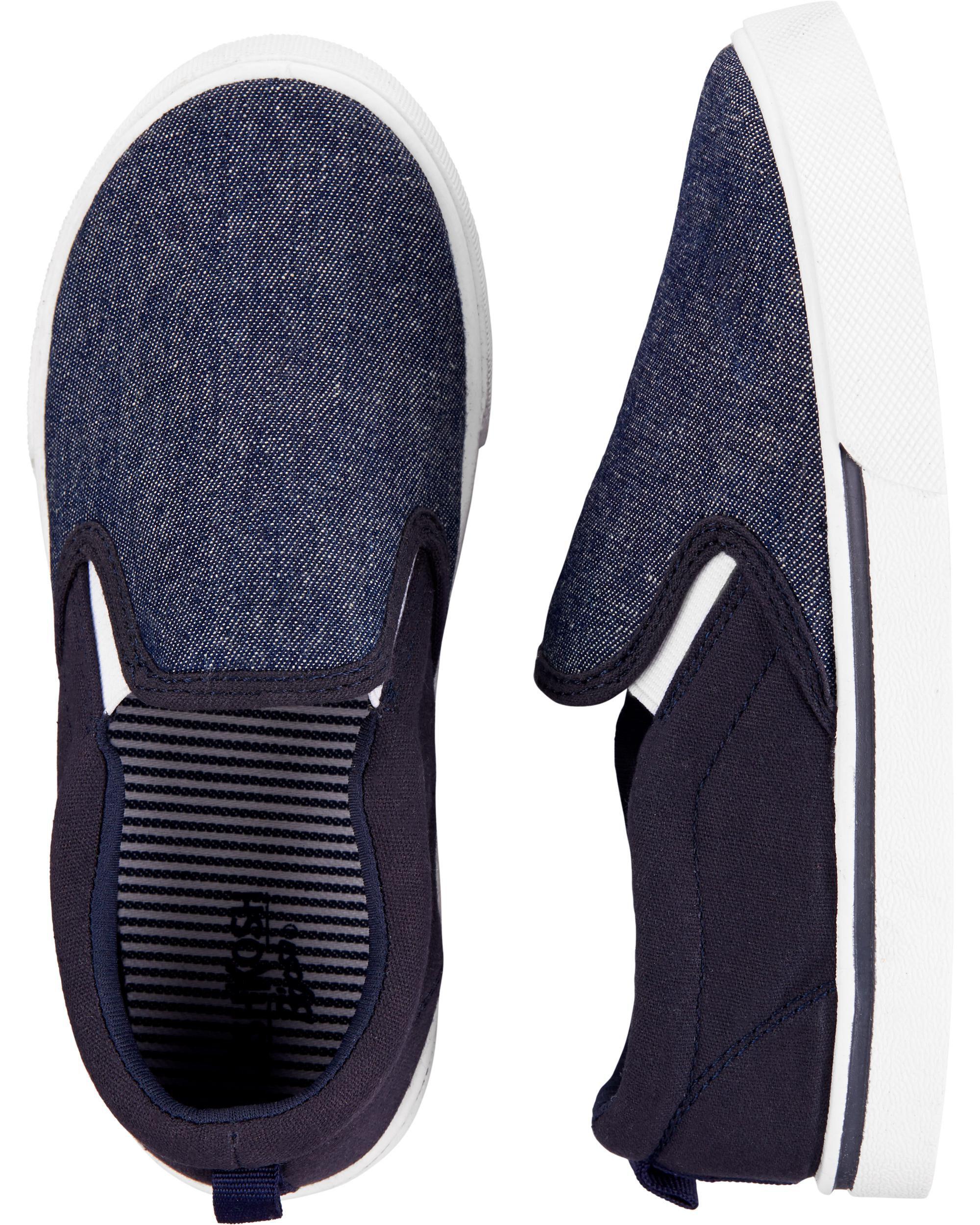 Oshkoshbgosh Navy Slip-On Shoes