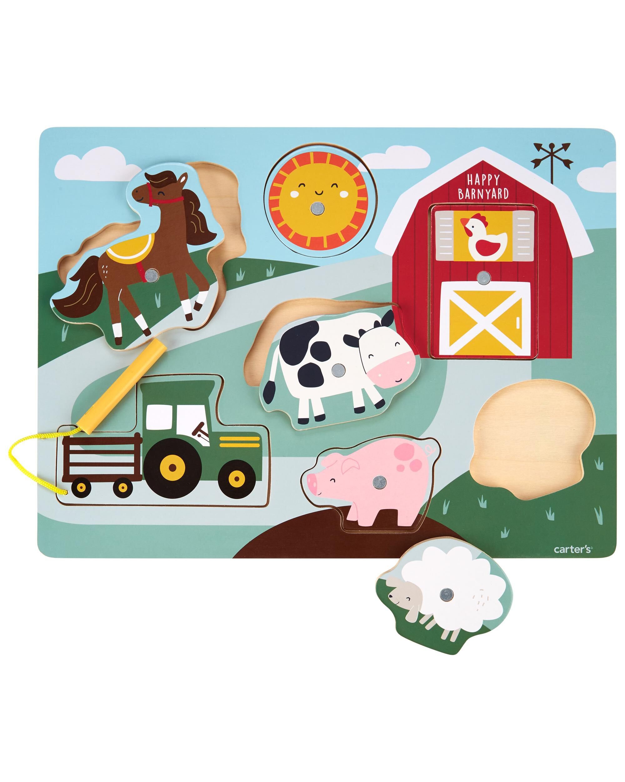 Oshkoshbgosh Wooden Farm Animal Puzzle