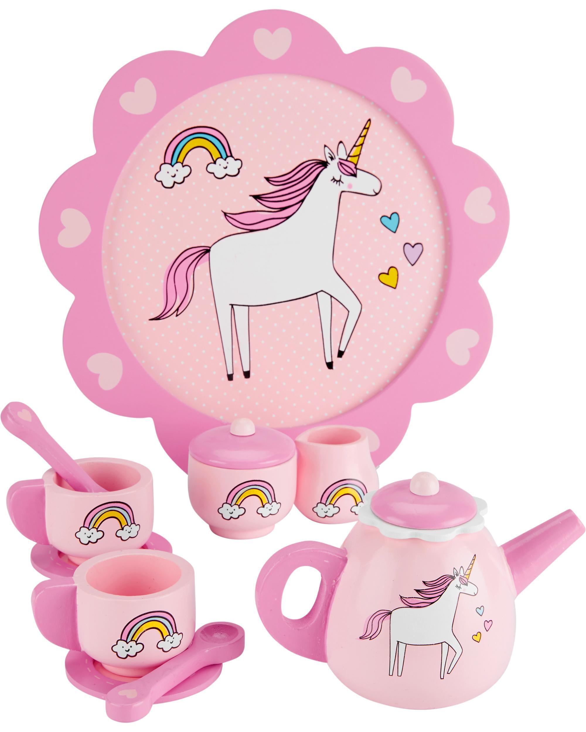 Oshkoshbgosh Wooden Unicorn Tea Set