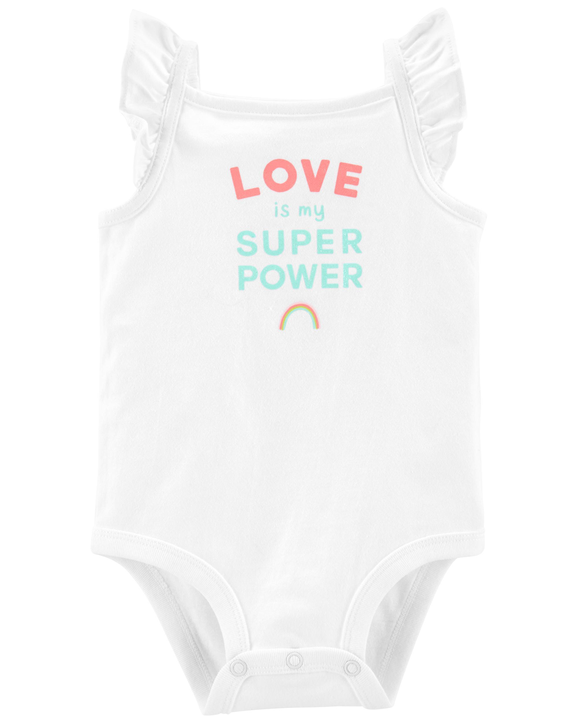 Oshkoshbgosh Love Is My Super Power Bodysuit
