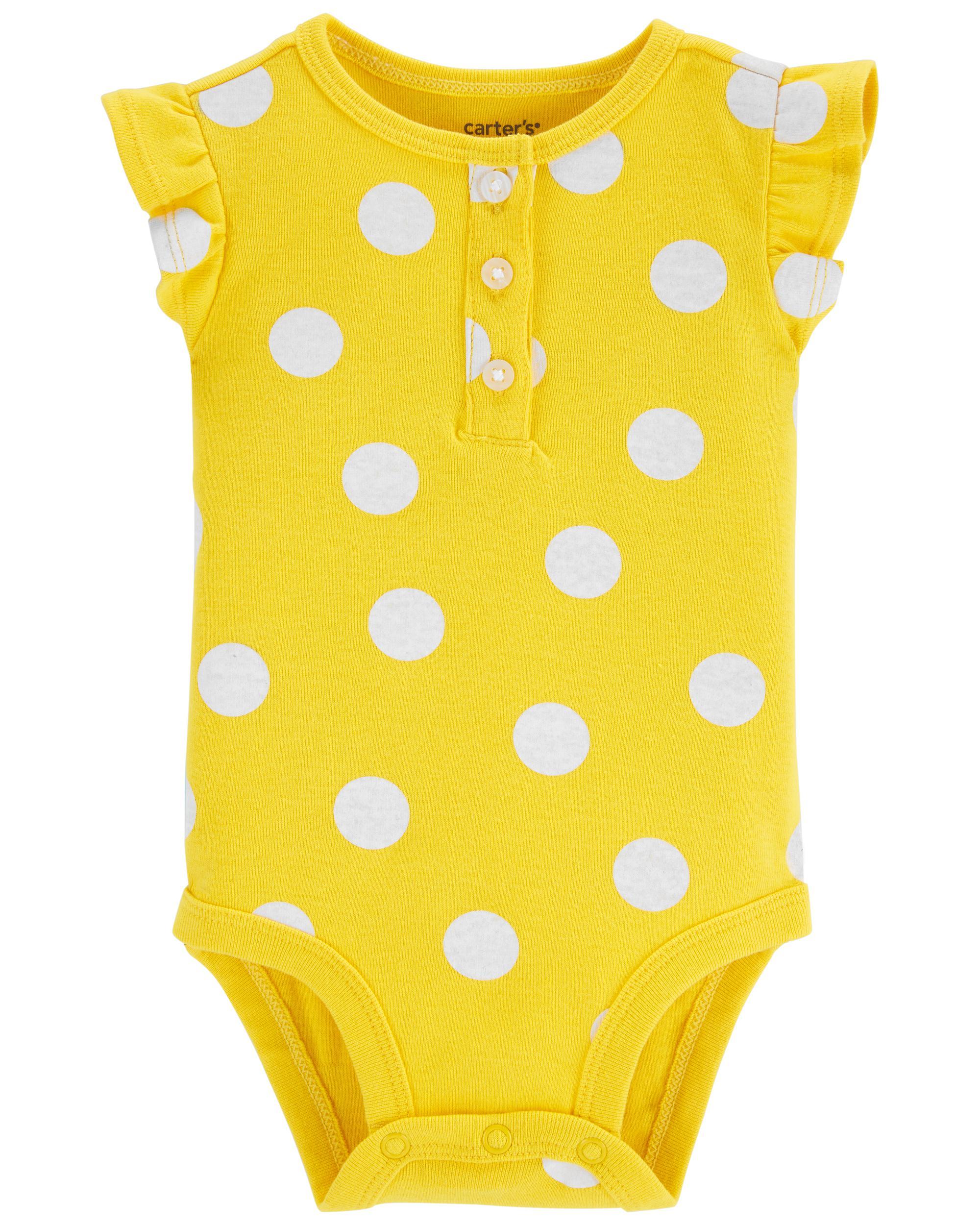 Oshkoshbgosh Polka Dot Button-Front Bodysuit