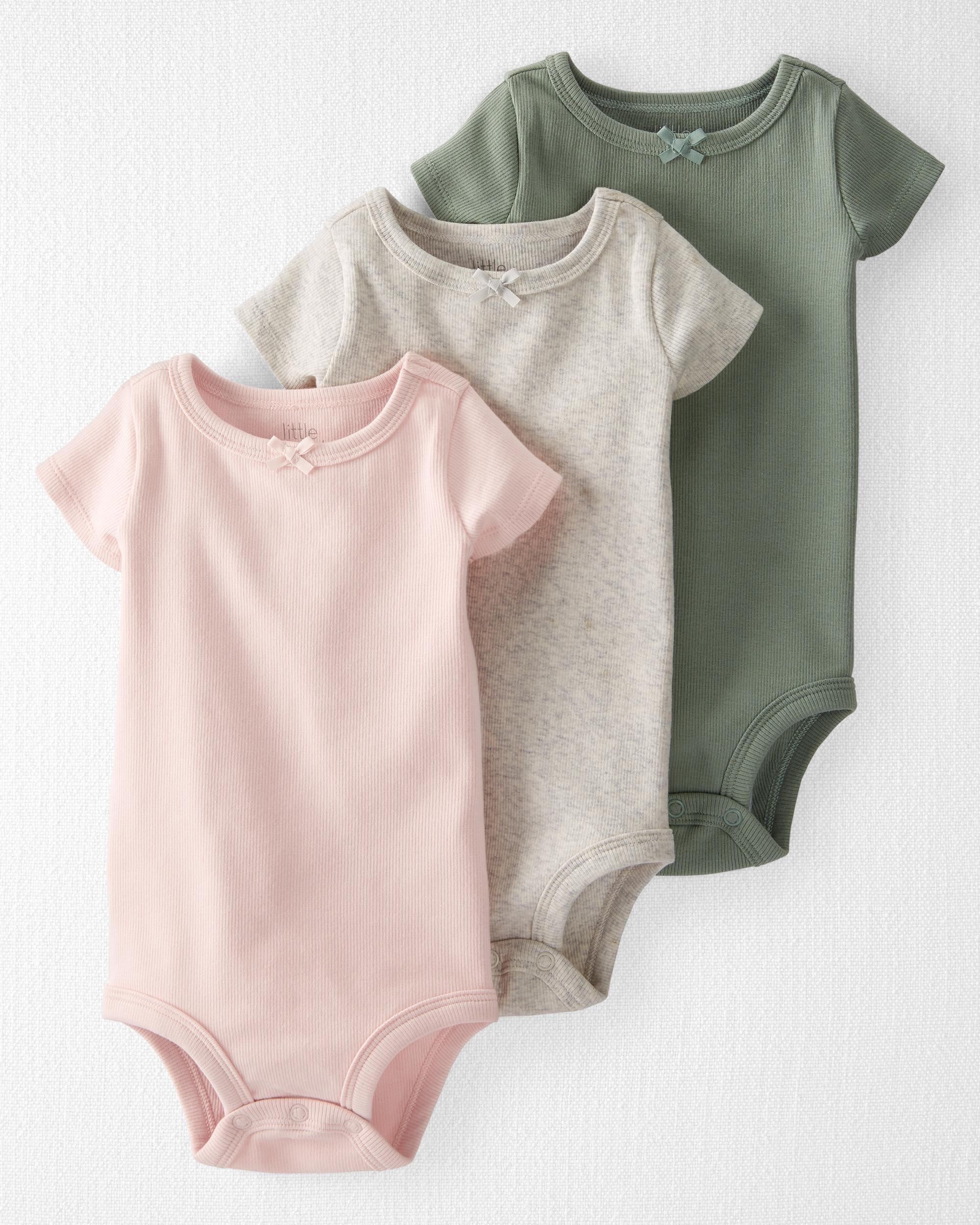 Oshkoshbgosh 3-Pack Organic Cotton Rib Bodysuits