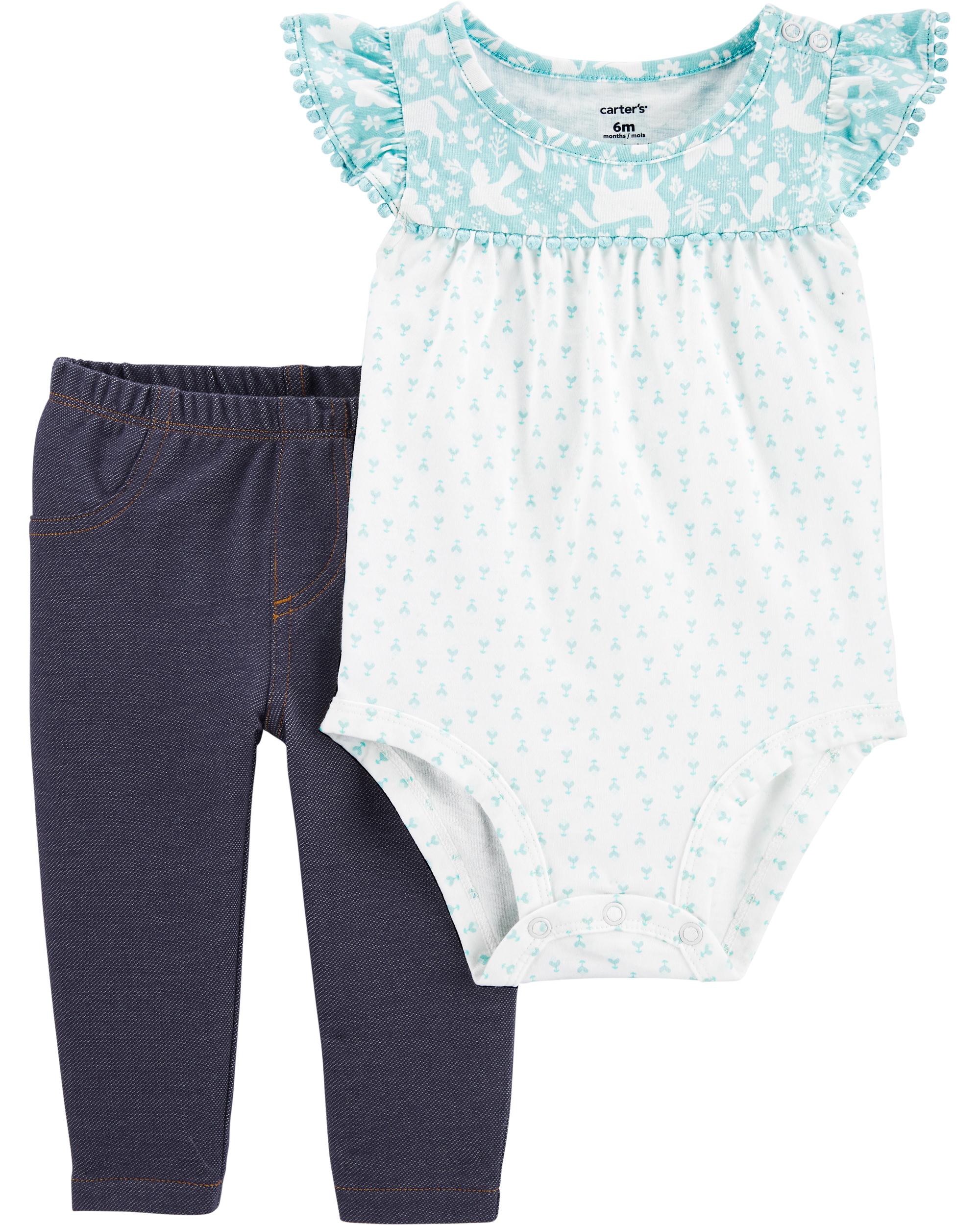 Oshkoshbgosh 2-Piece Crocheted Bodysuit Pant Set