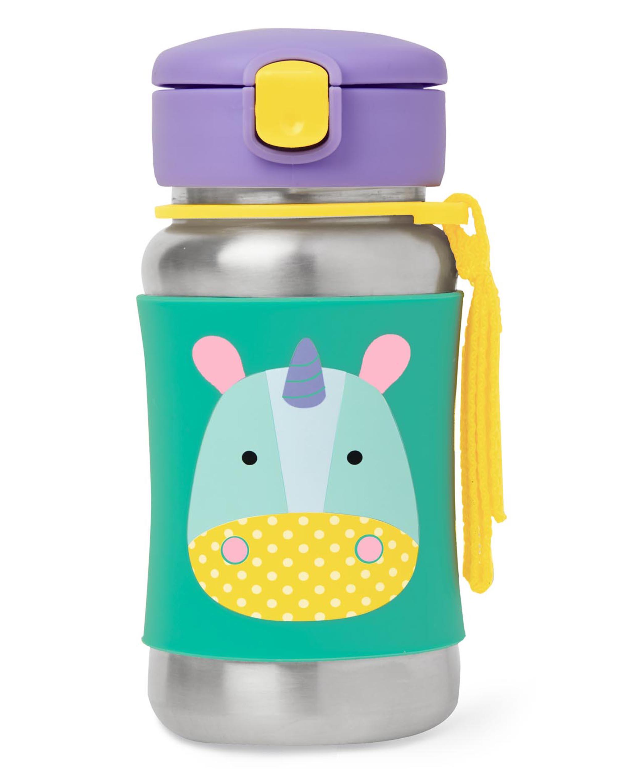 Oshkoshbgosh Zoo Stainless Steel Little Kid Straw Bottle