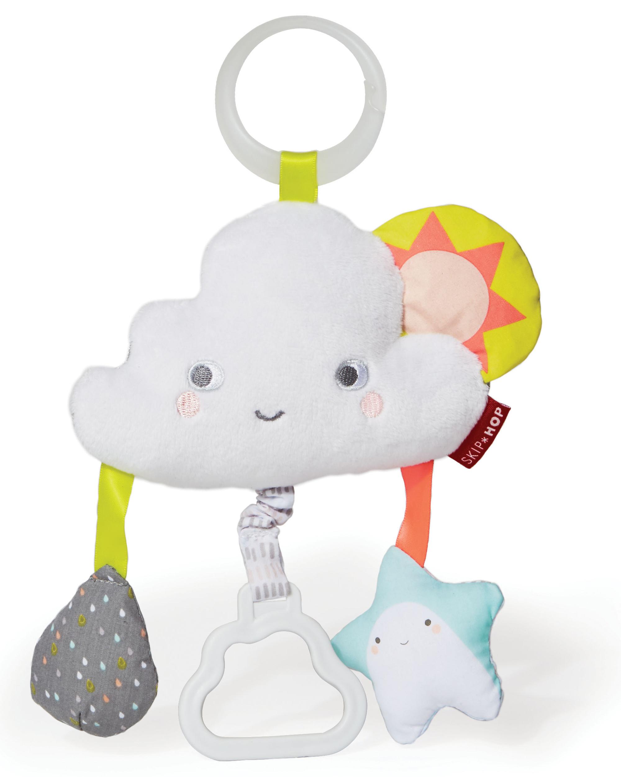 Oshkoshbgosh Silver Lining Cloud Jitter Stroller Baby Toy