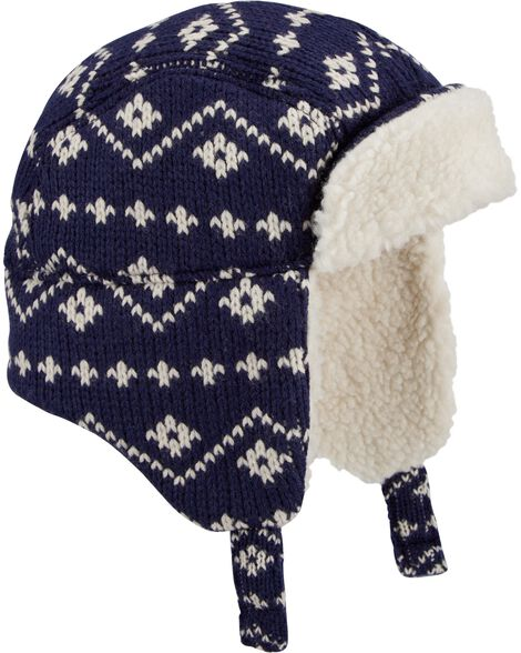 Fair Isle Sherpa Trapper Hat by Oshkosh