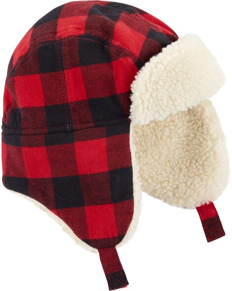 Flannel Sherpa Trapper Hat by Oshkosh