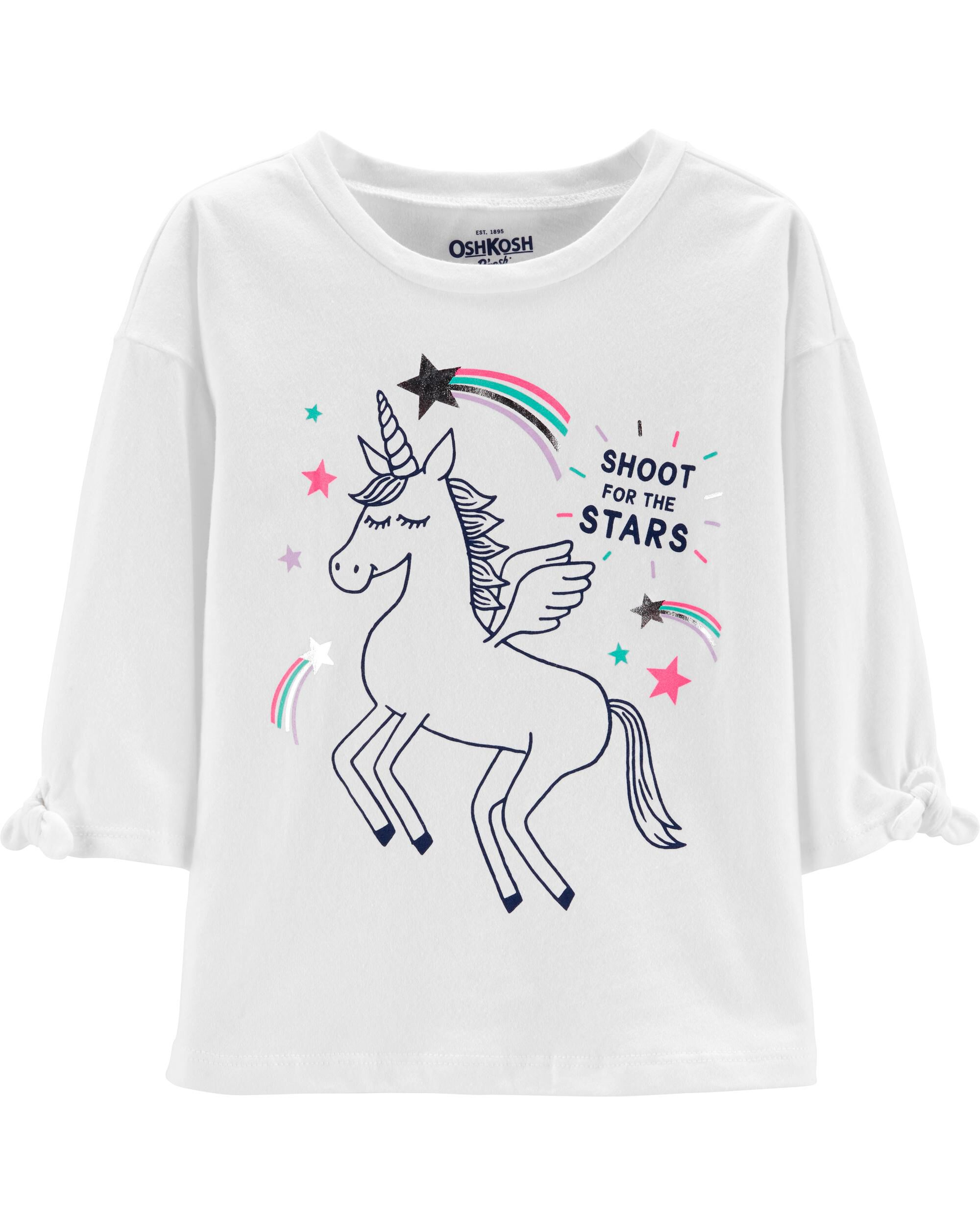 *Clearance*  Tie Sleeve Unicorn Top
