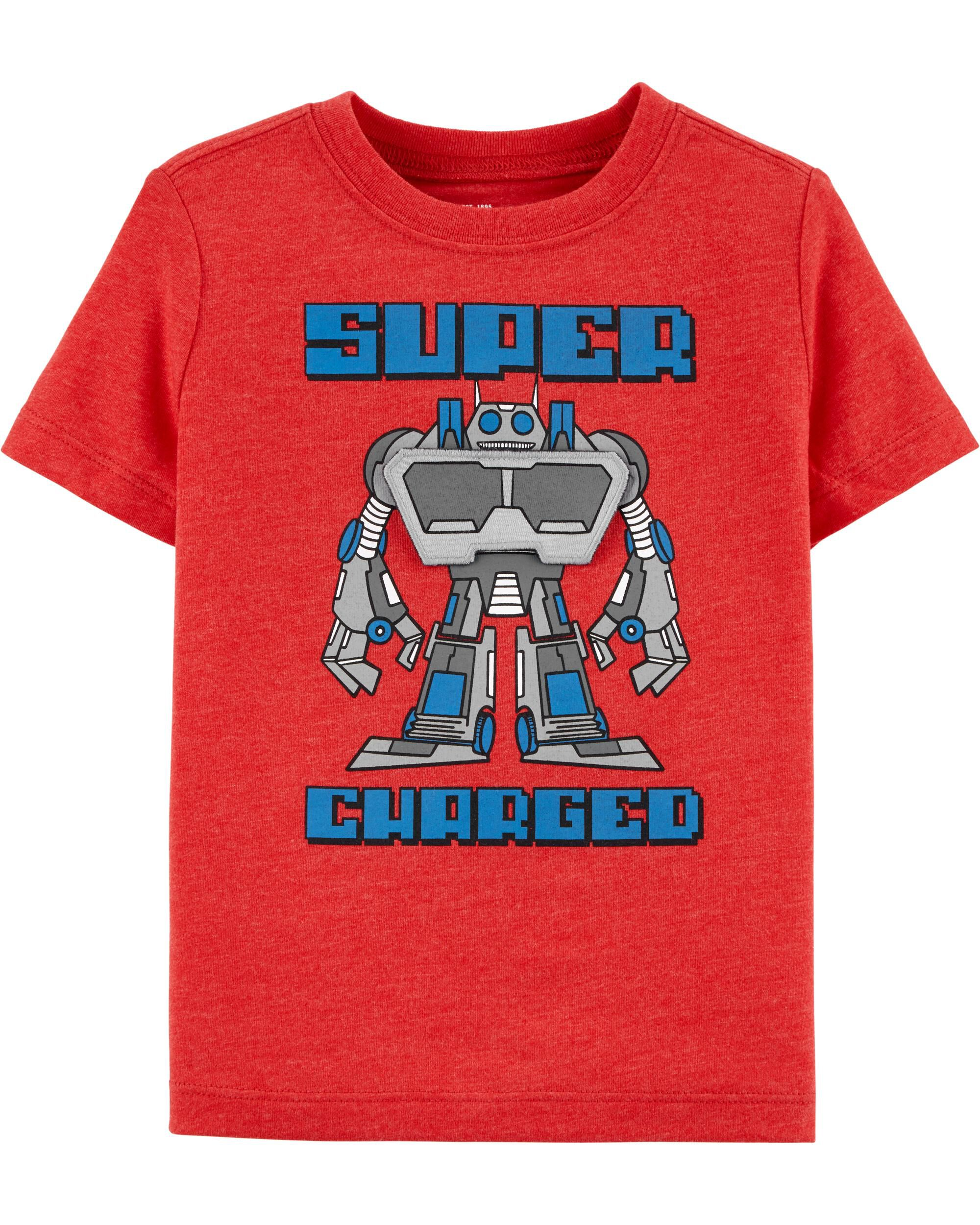*Clearance*  Flip & Reveal Robot Graphic Tee