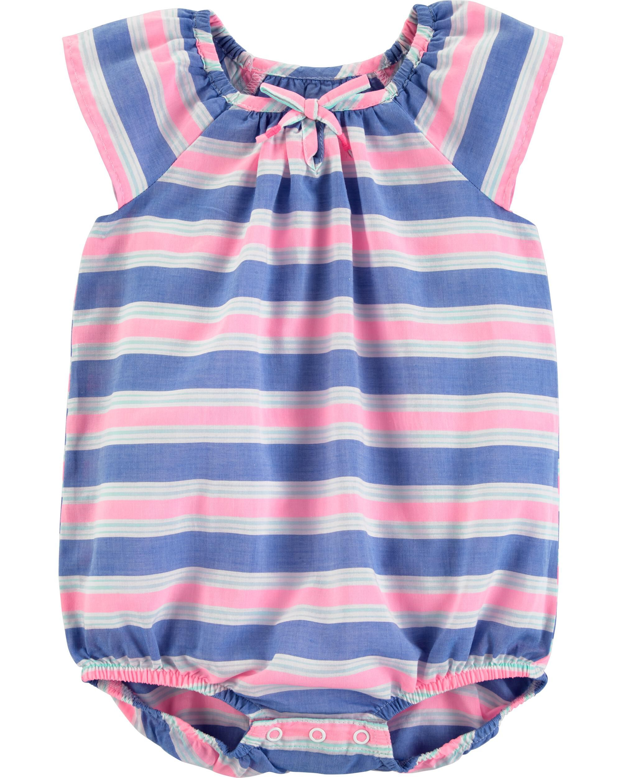 *Clearance*  Striped Bodysuit