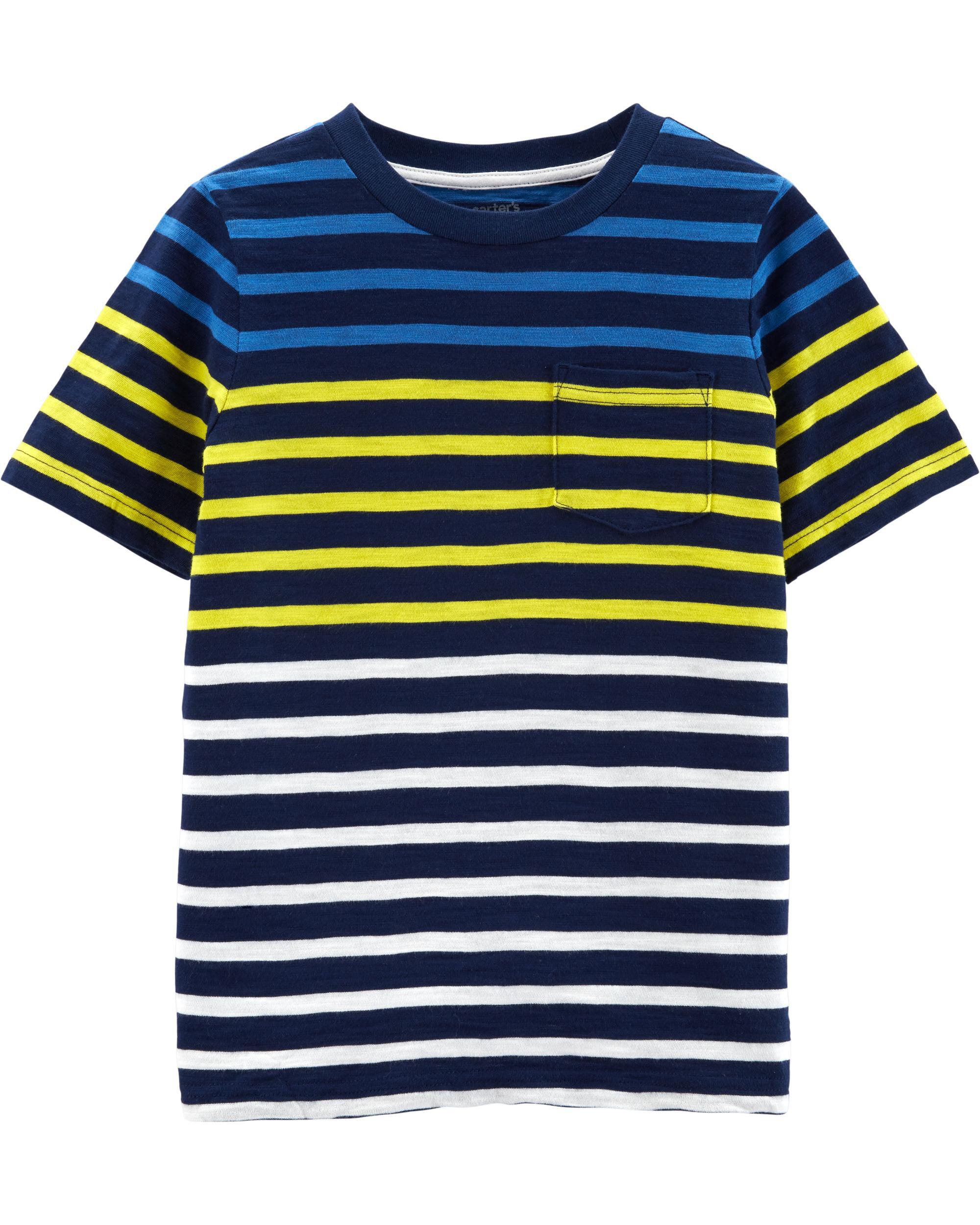 *Clearance*  Striped Pocket Slub Jersey Tee