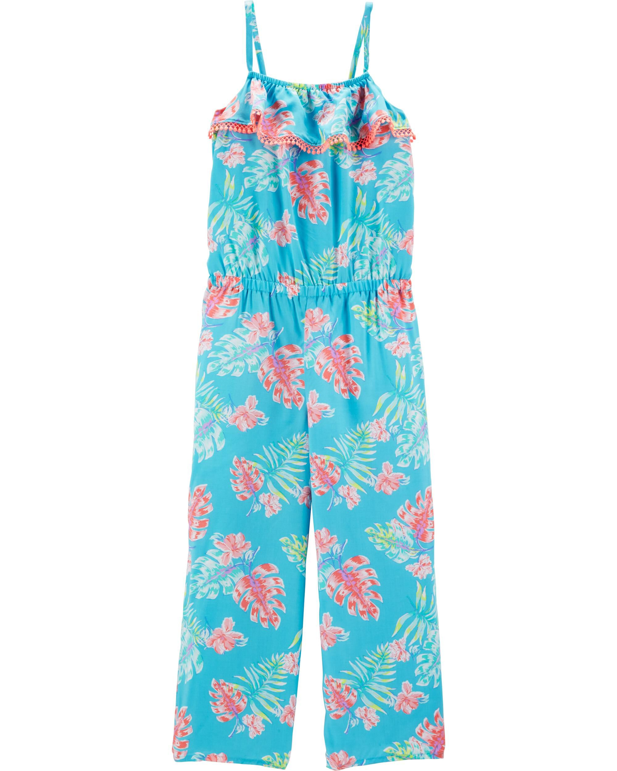 *Clearance*  Tropical Floral Jumpsuit