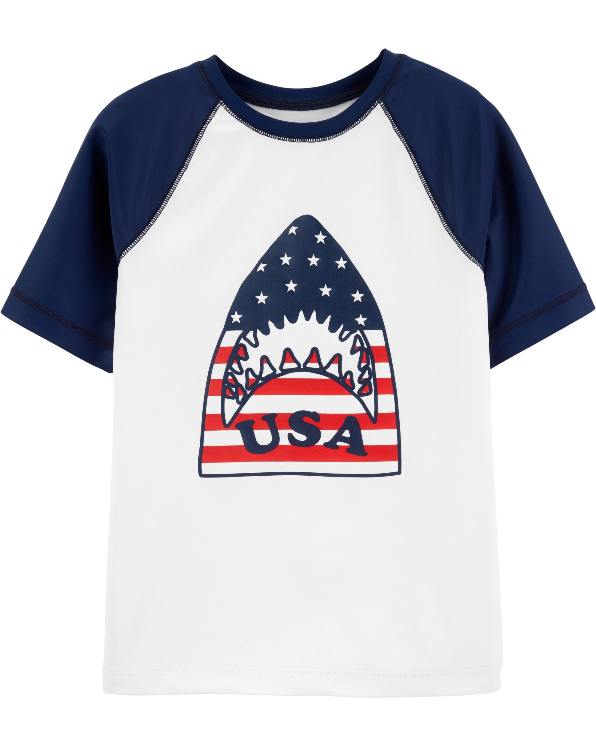 *Clearance*  OshKosh USA Shark Rashguard