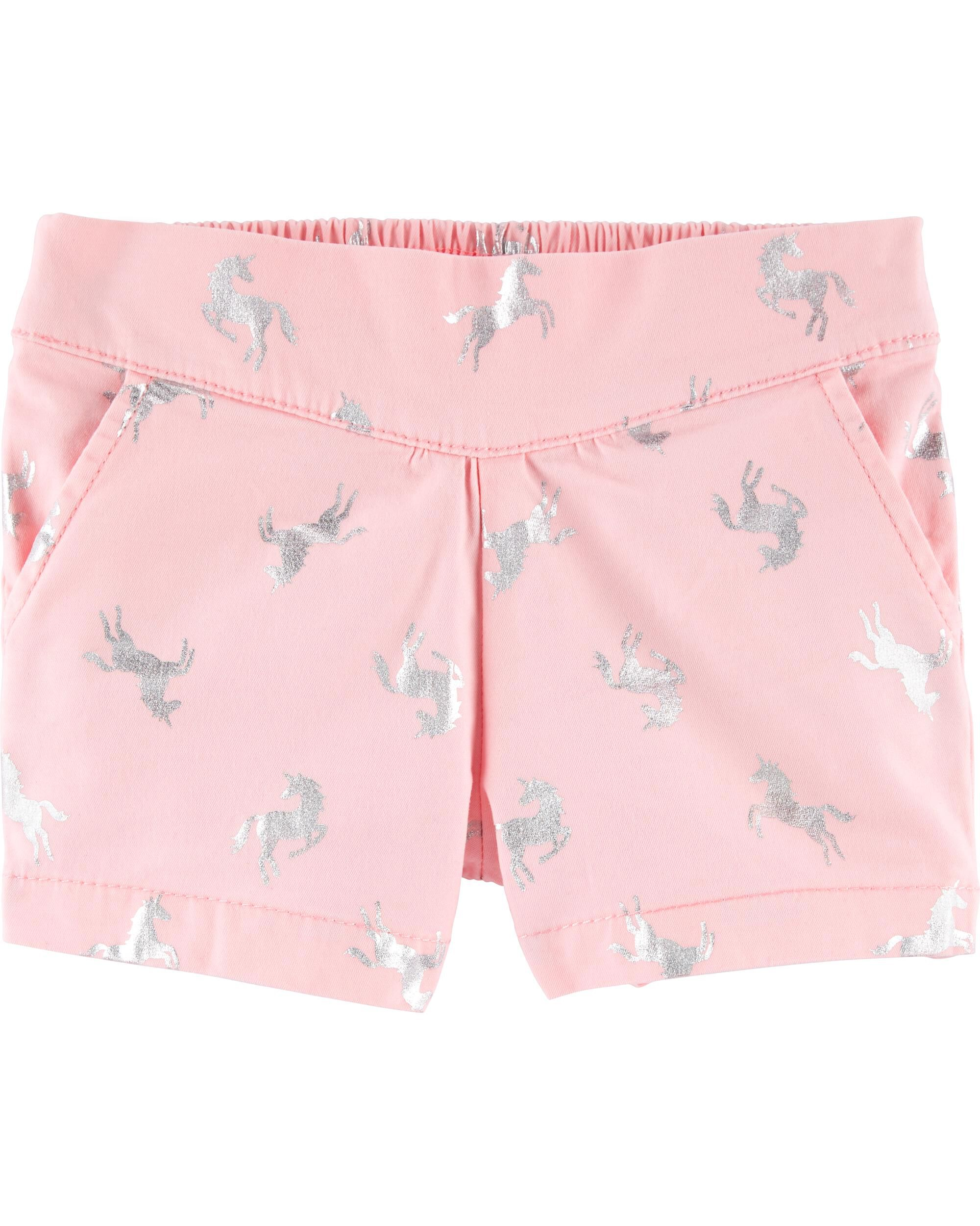 *Clearance*  Pleated Pull-On Shorts