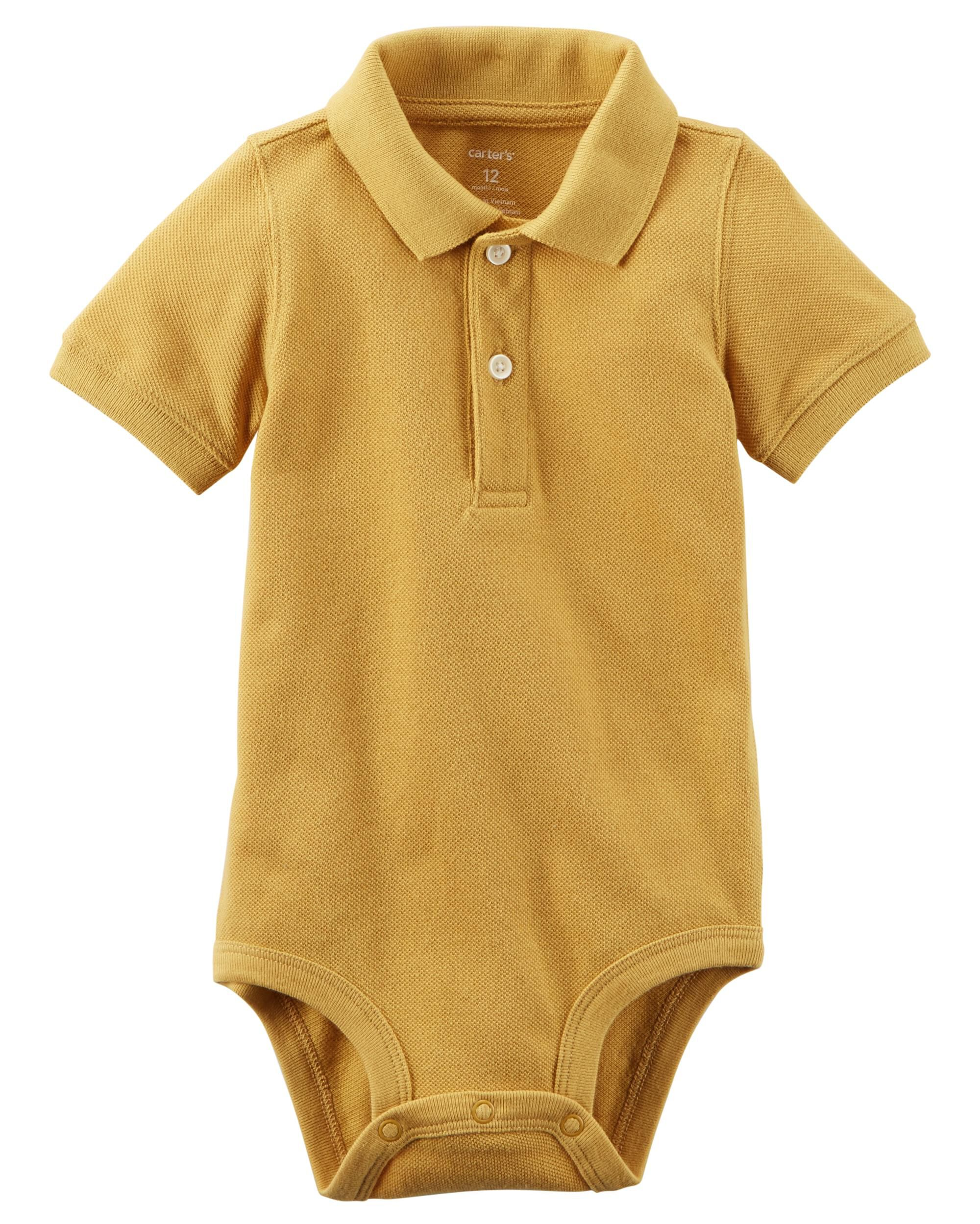 *Clearance*  Piqué Polo Bodysuit