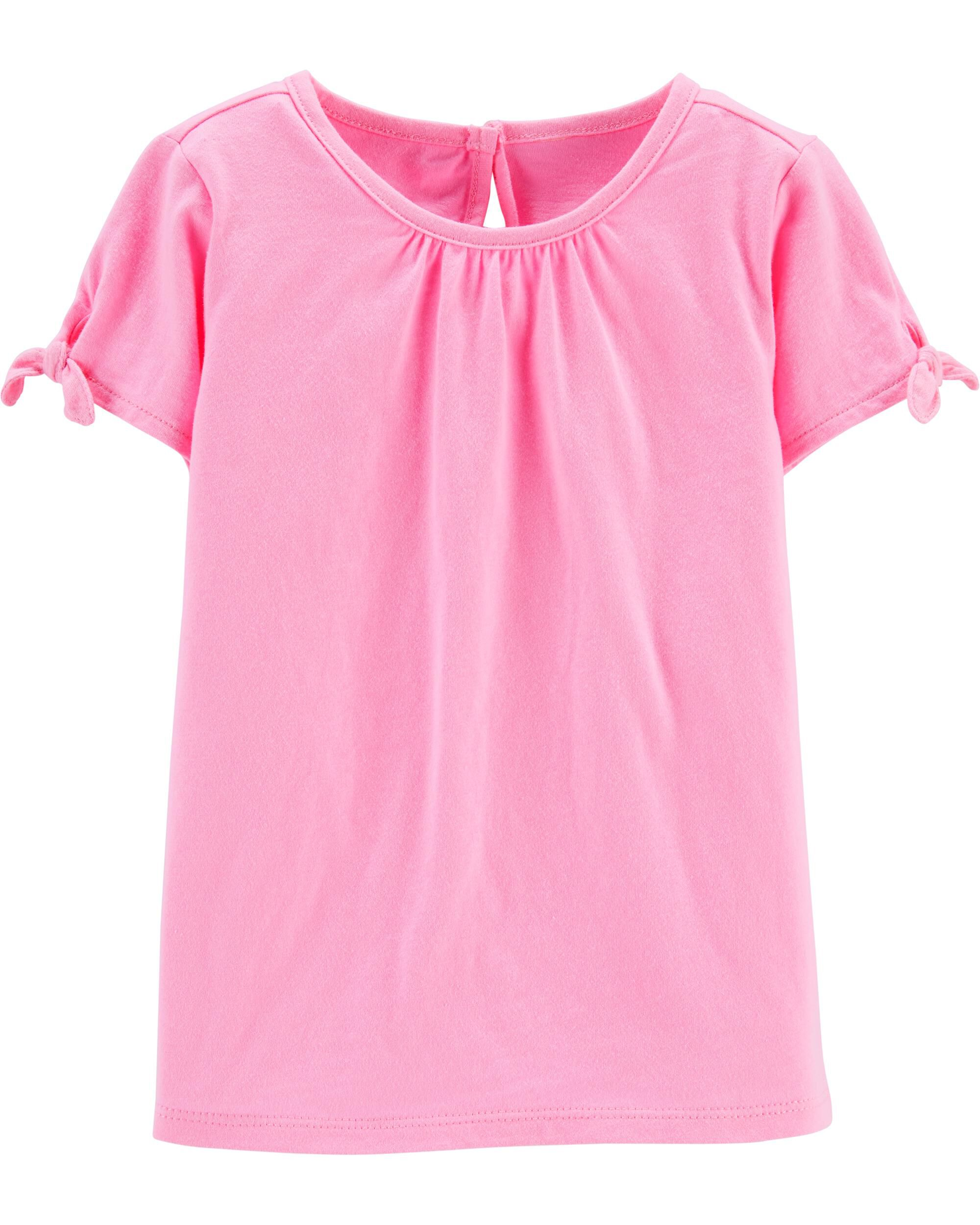 *Clearance*  Tie-Sleeve Jersey Top