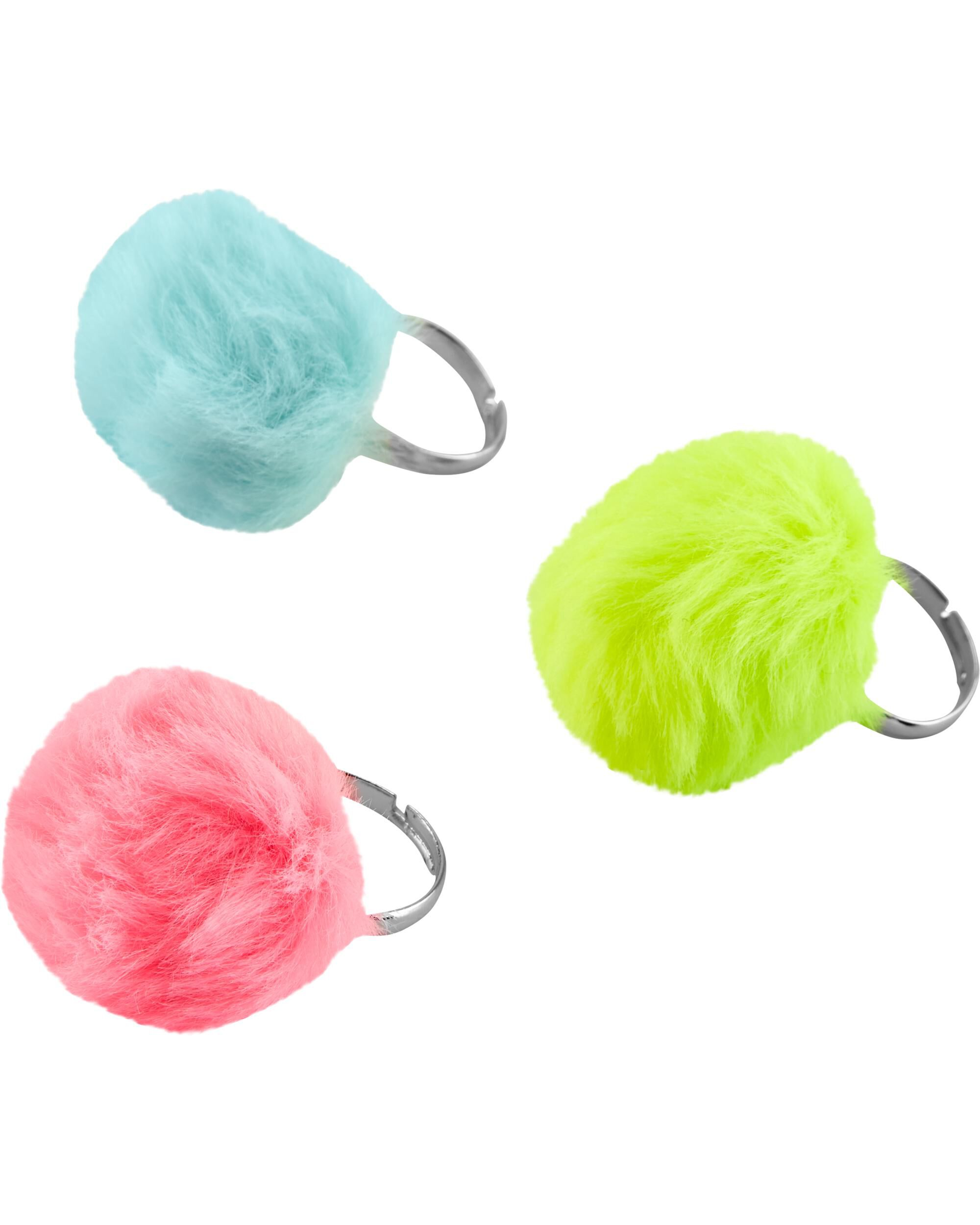 *Clearance*  3-Pack Pom Pom Rings