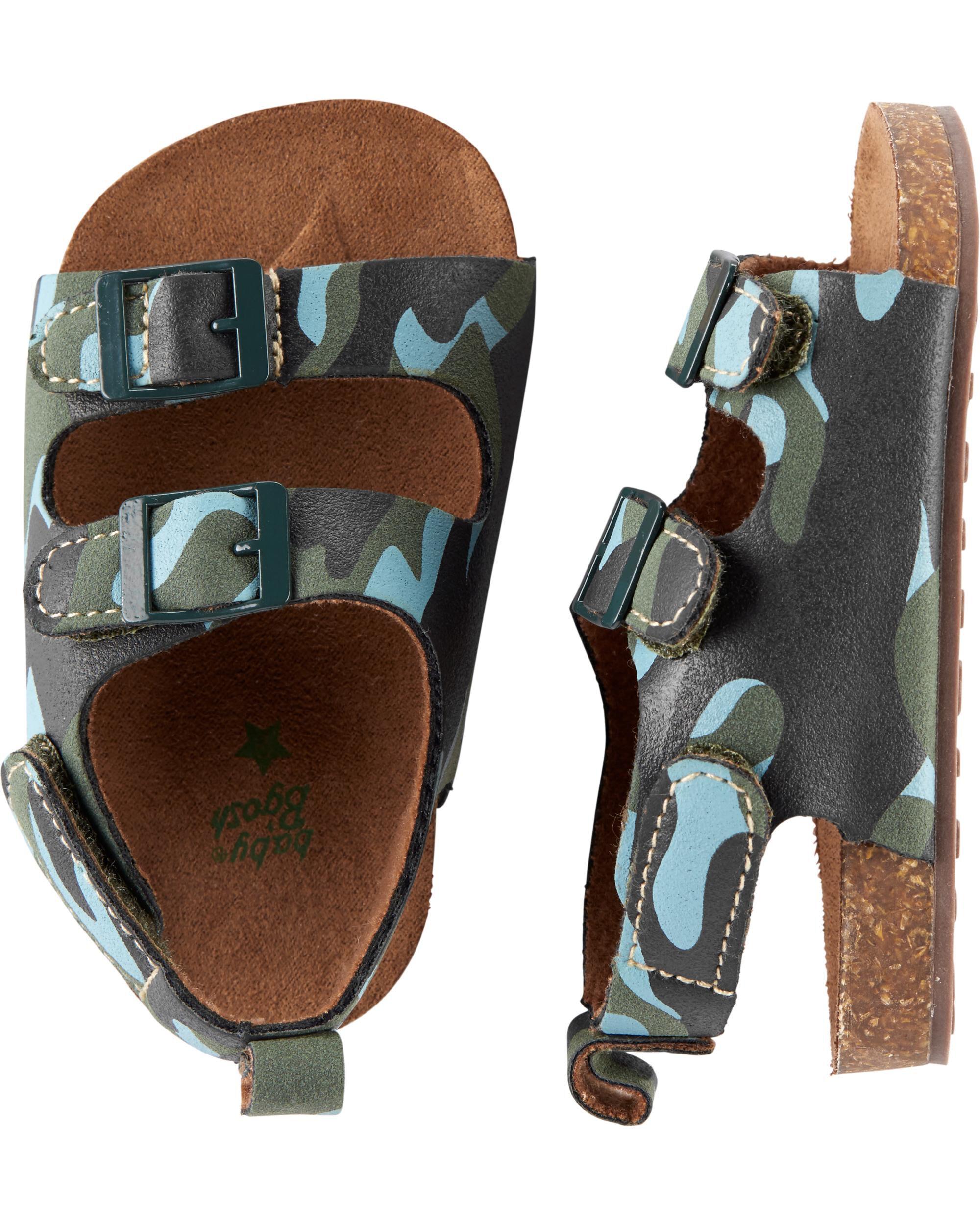 *Clearance*  OshKosh Camo Sandal Crib Shoes