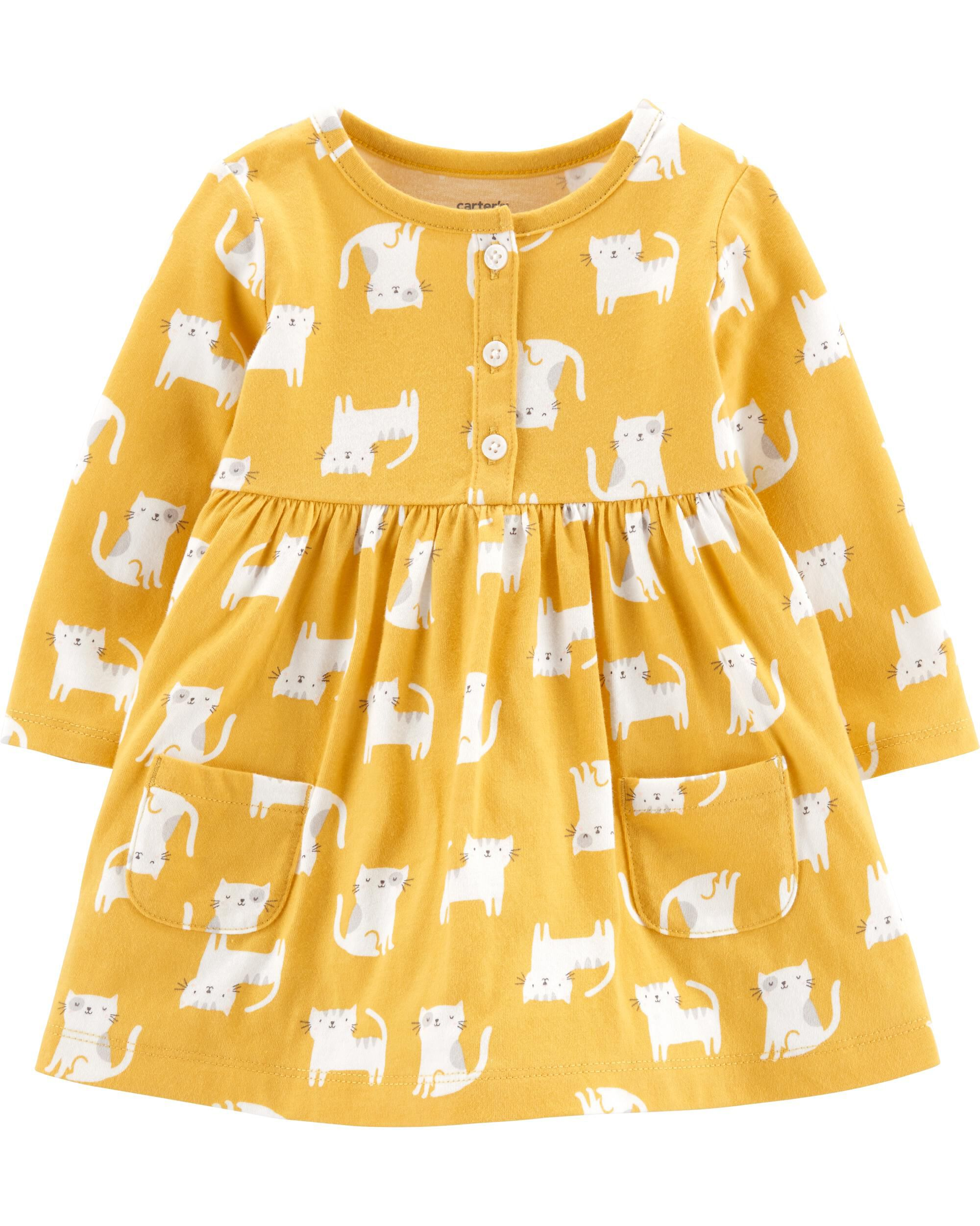 *Clearance*  Cat Jersey Dress