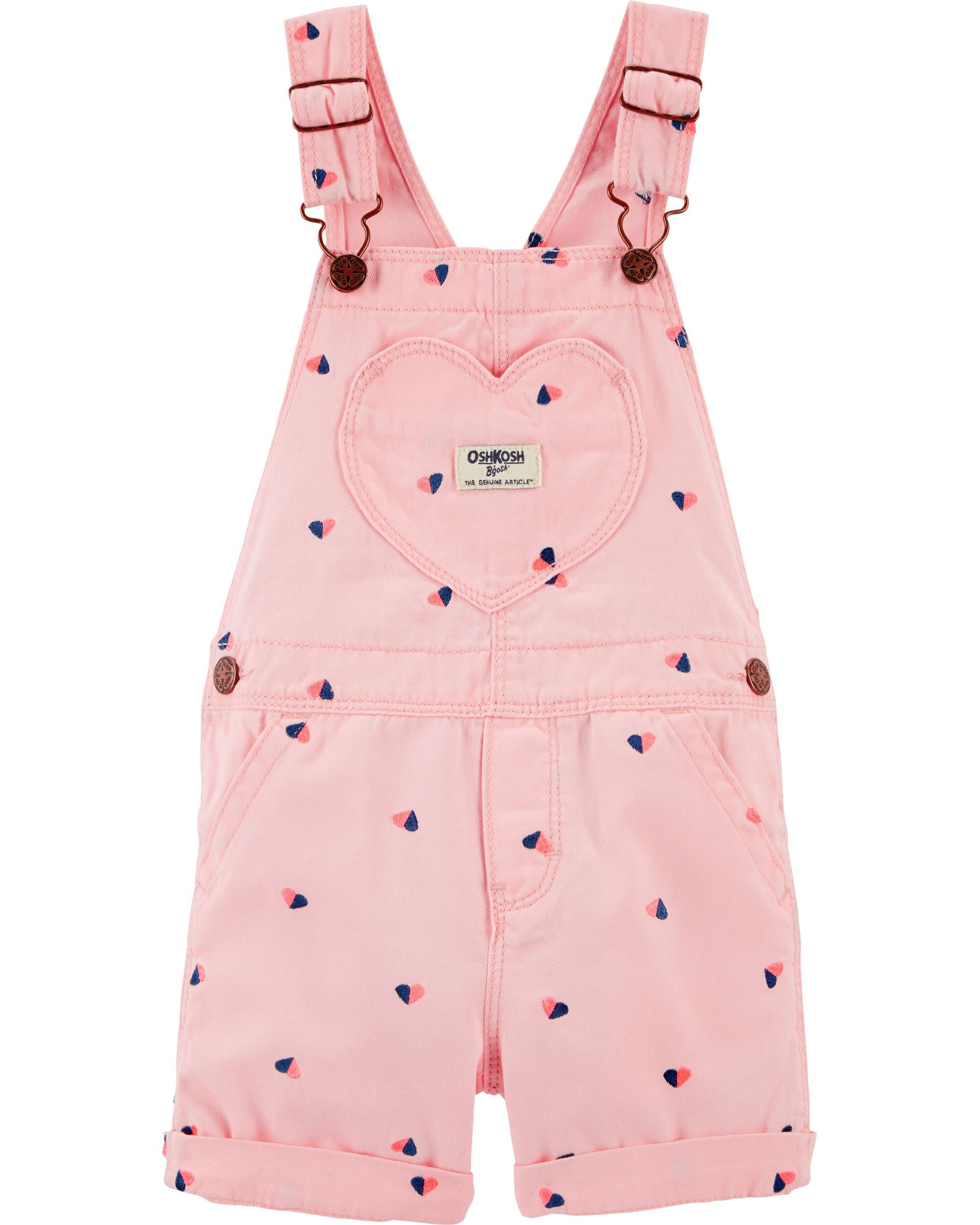 *Clearance*  Heart Schiffli Shortalls