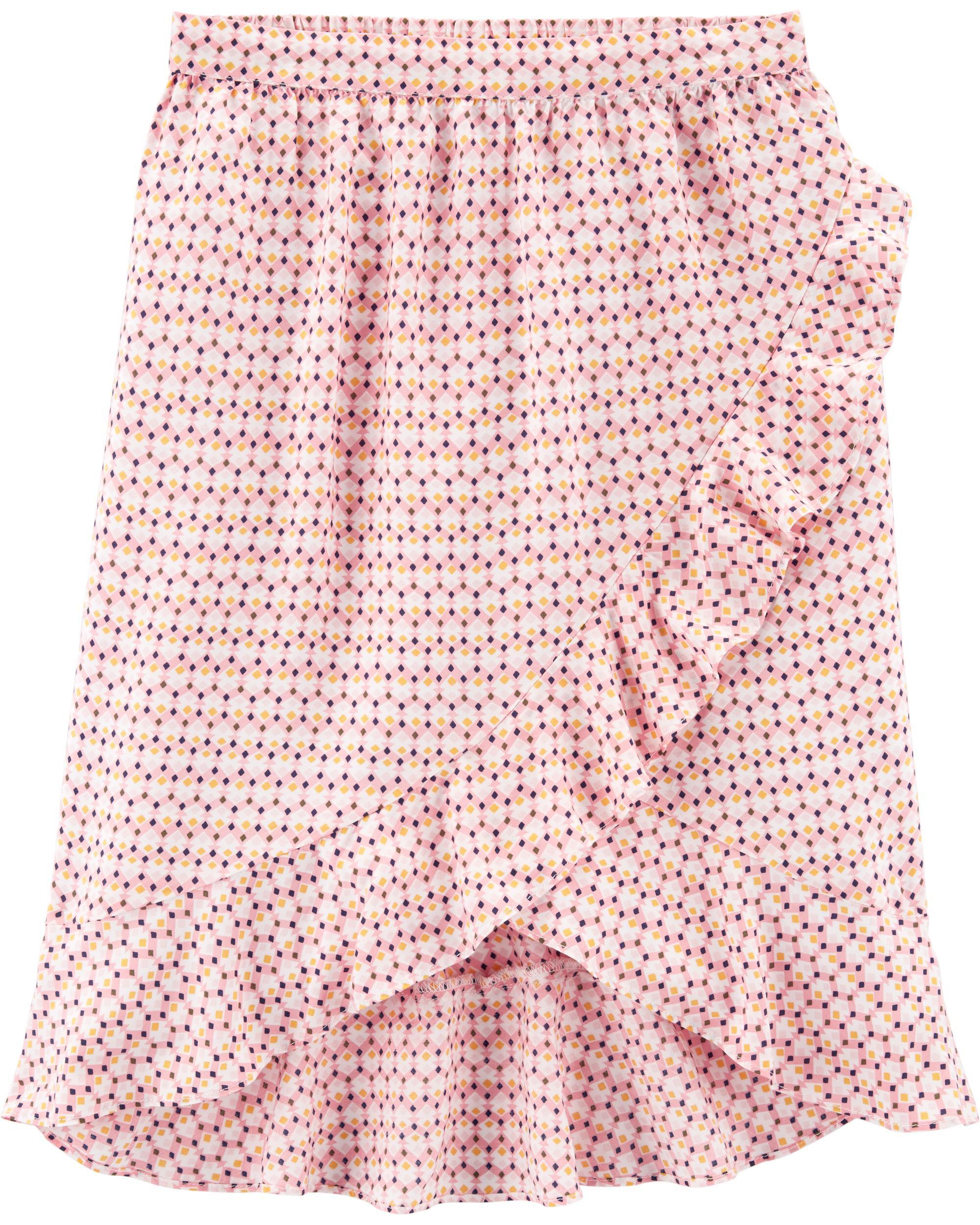 *Clearance*  Ruffle Wrap Midi Skirt