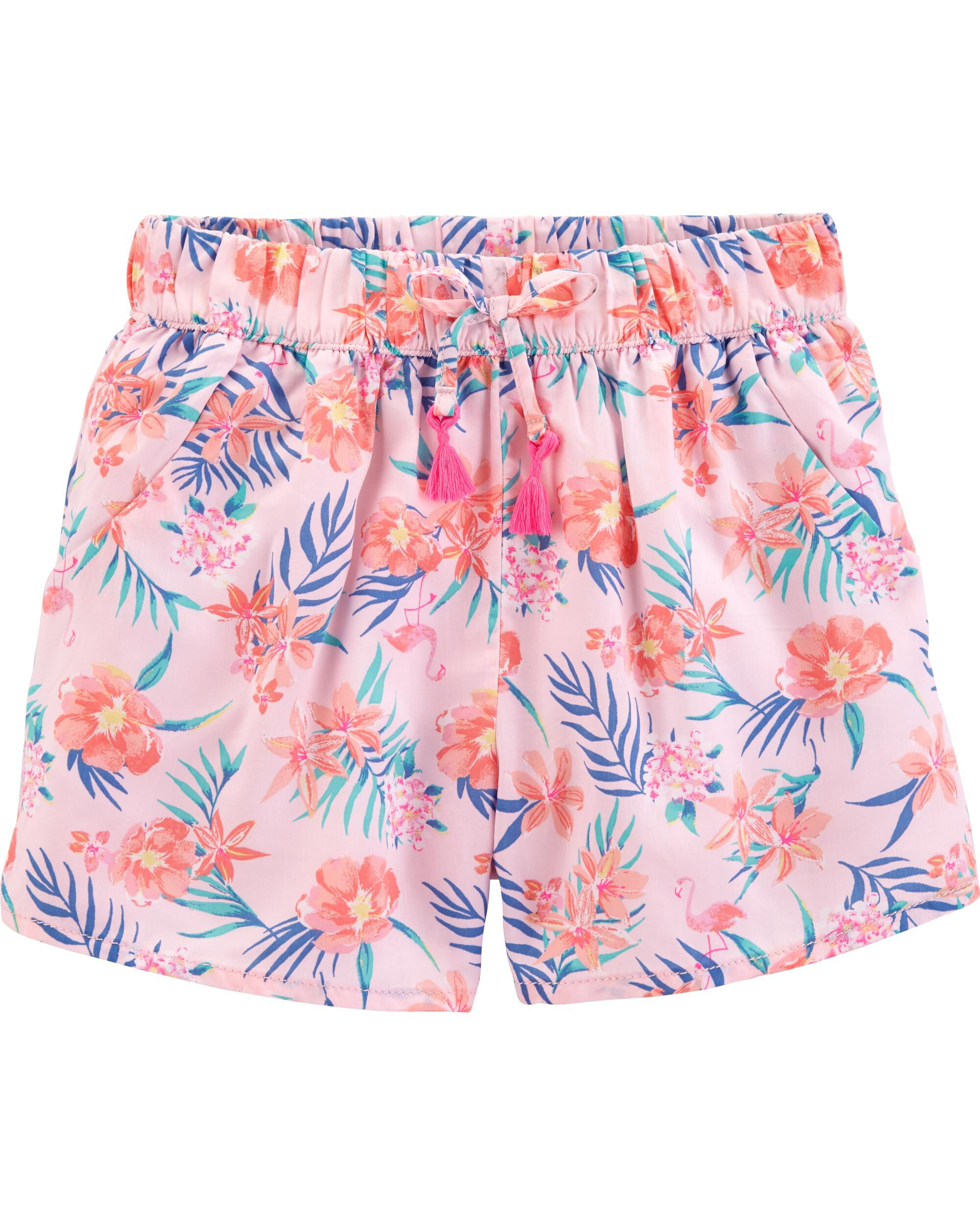 *Clearance*  Tropical Pull-On Shorts