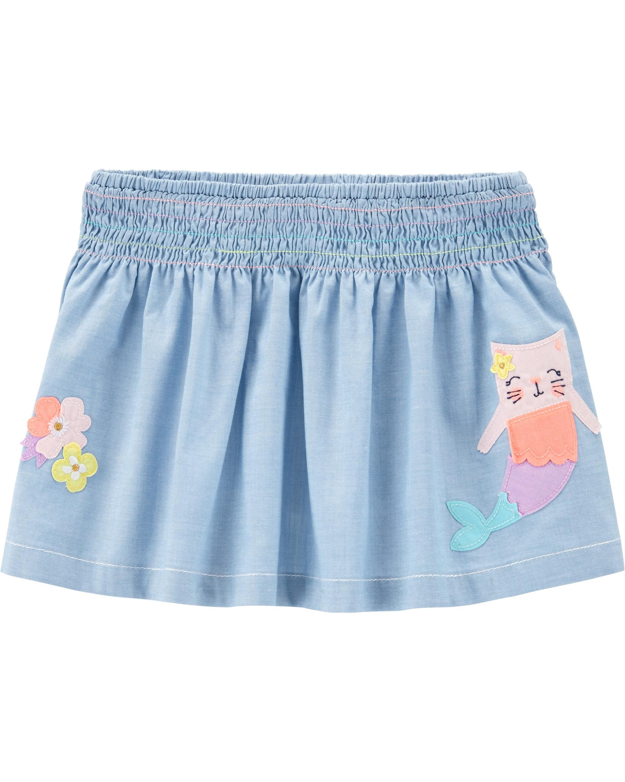 *Clearance*  Cat Mermaid Skort