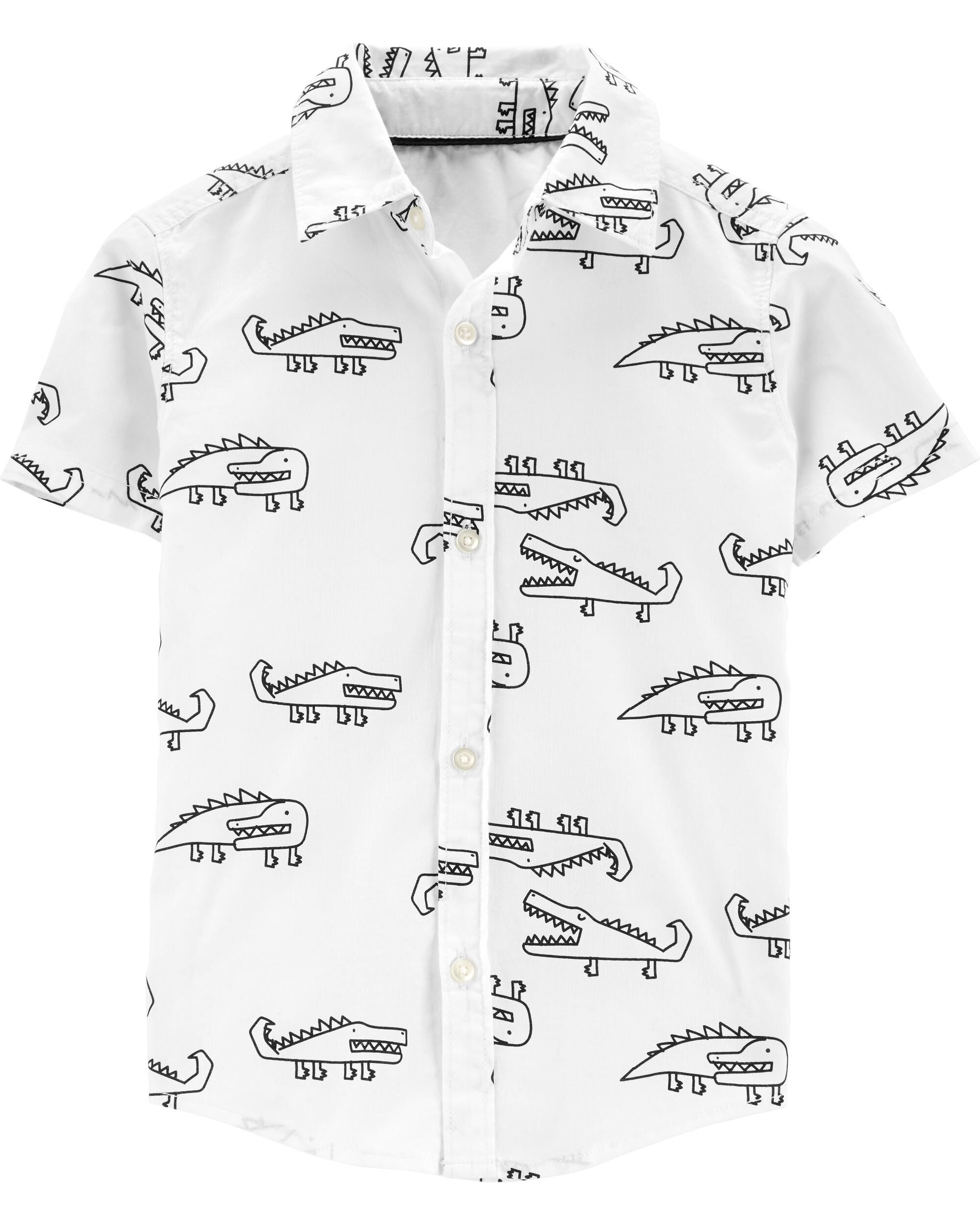 *Clearance*  Alligator Button-Front Shirt