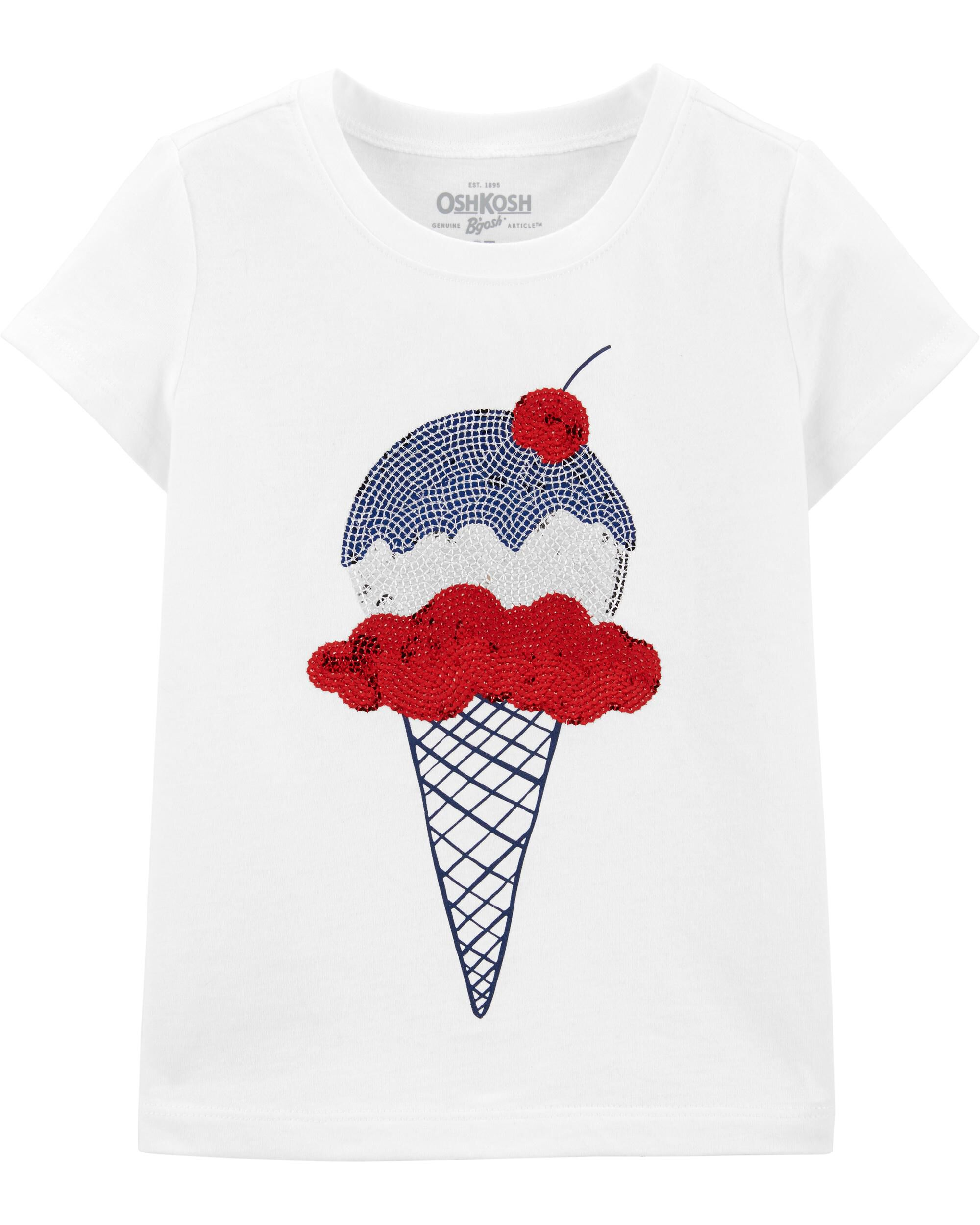 *Clearance*  Ice Cream Sequin Tee