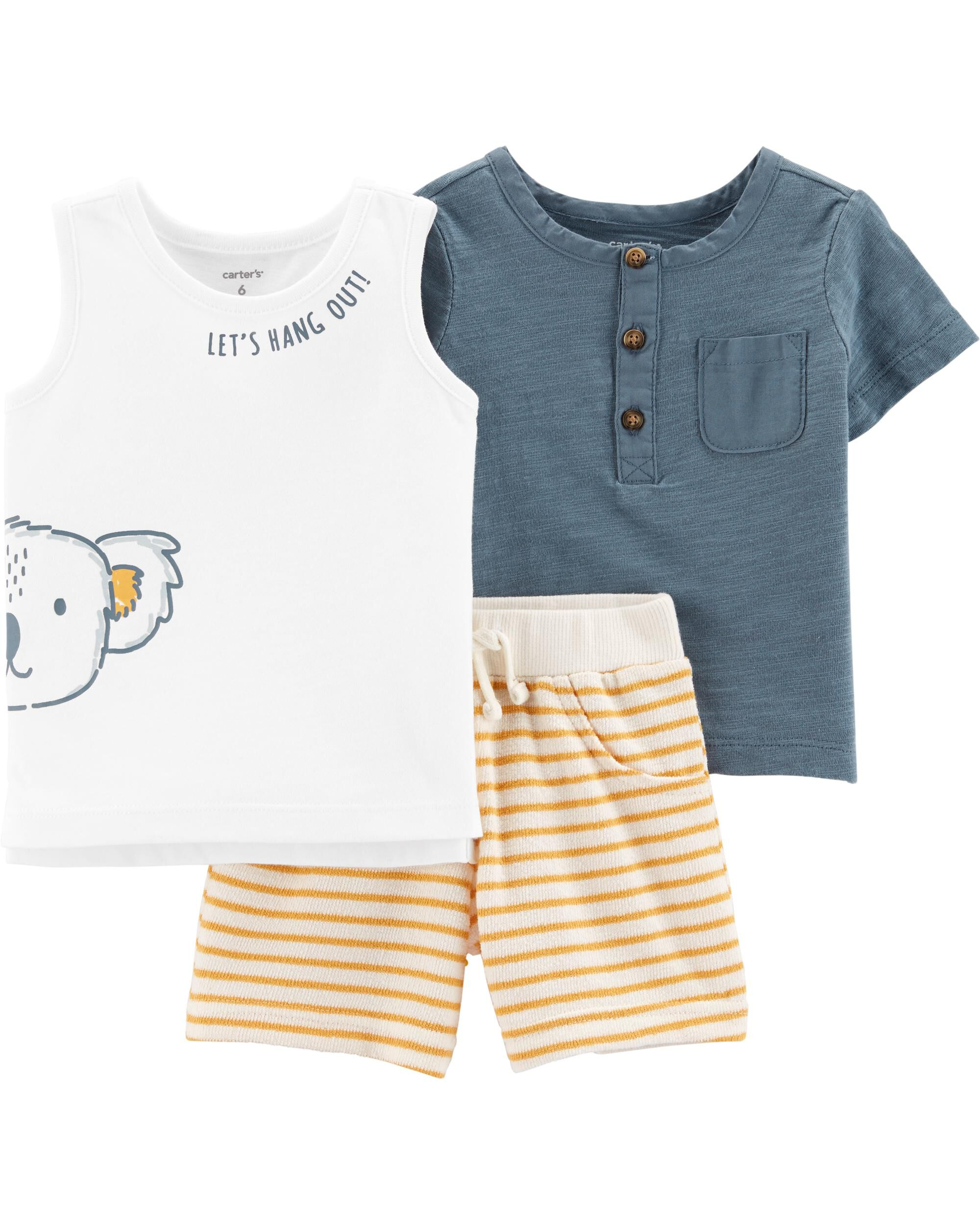*Clearance*  3-Piece Koala Little Short Set