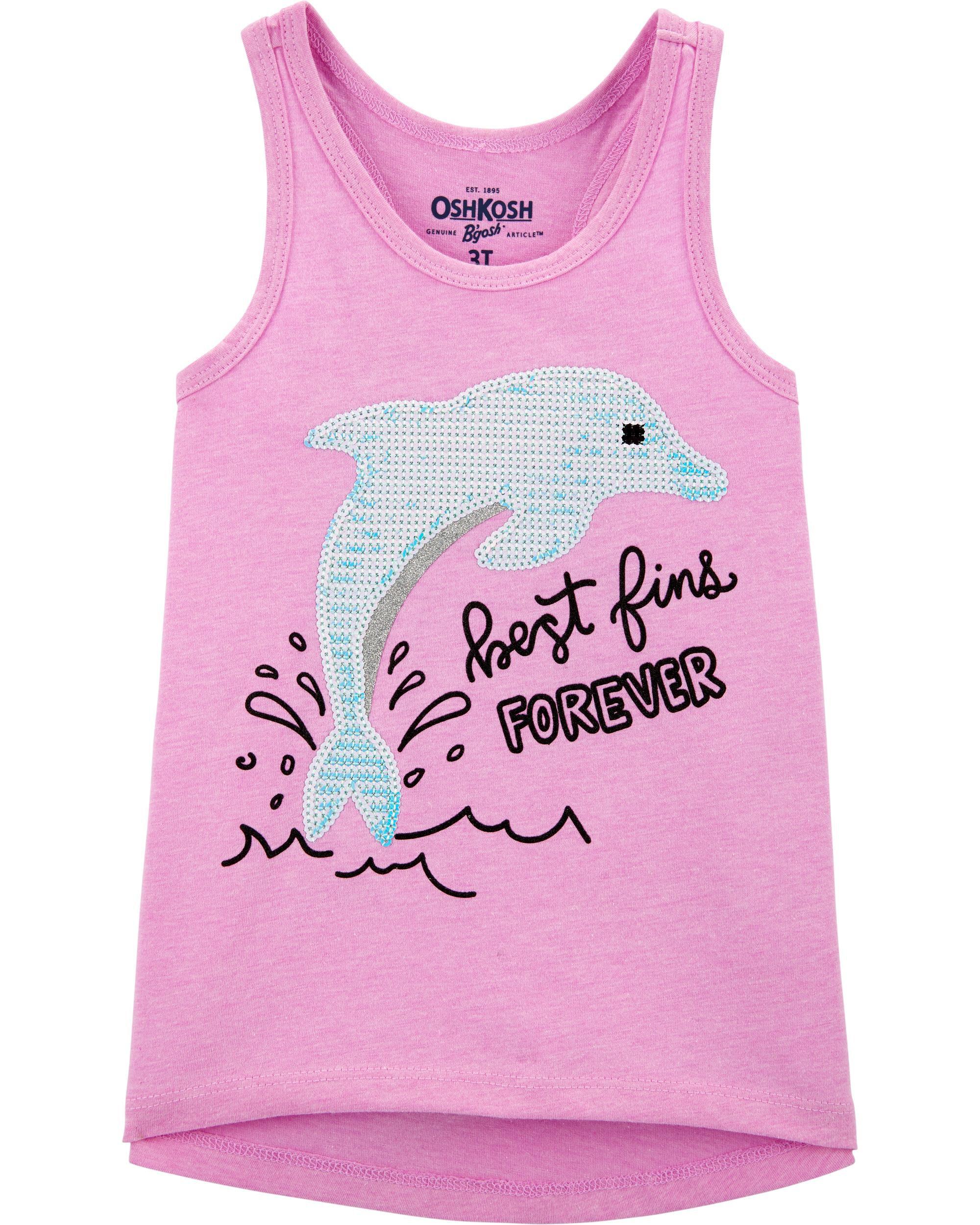 *Clearance*  Racerback Dolphin Sequin Tank