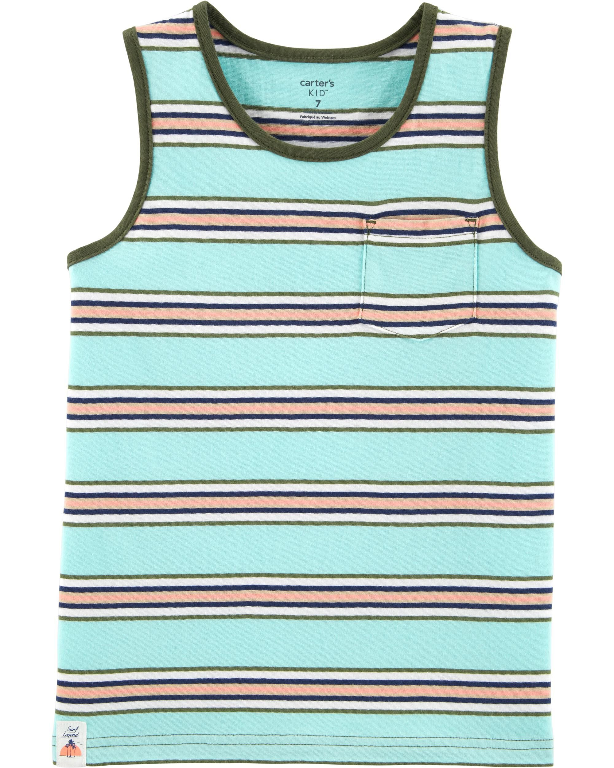 *Clearance*  Striped Jersey Tank