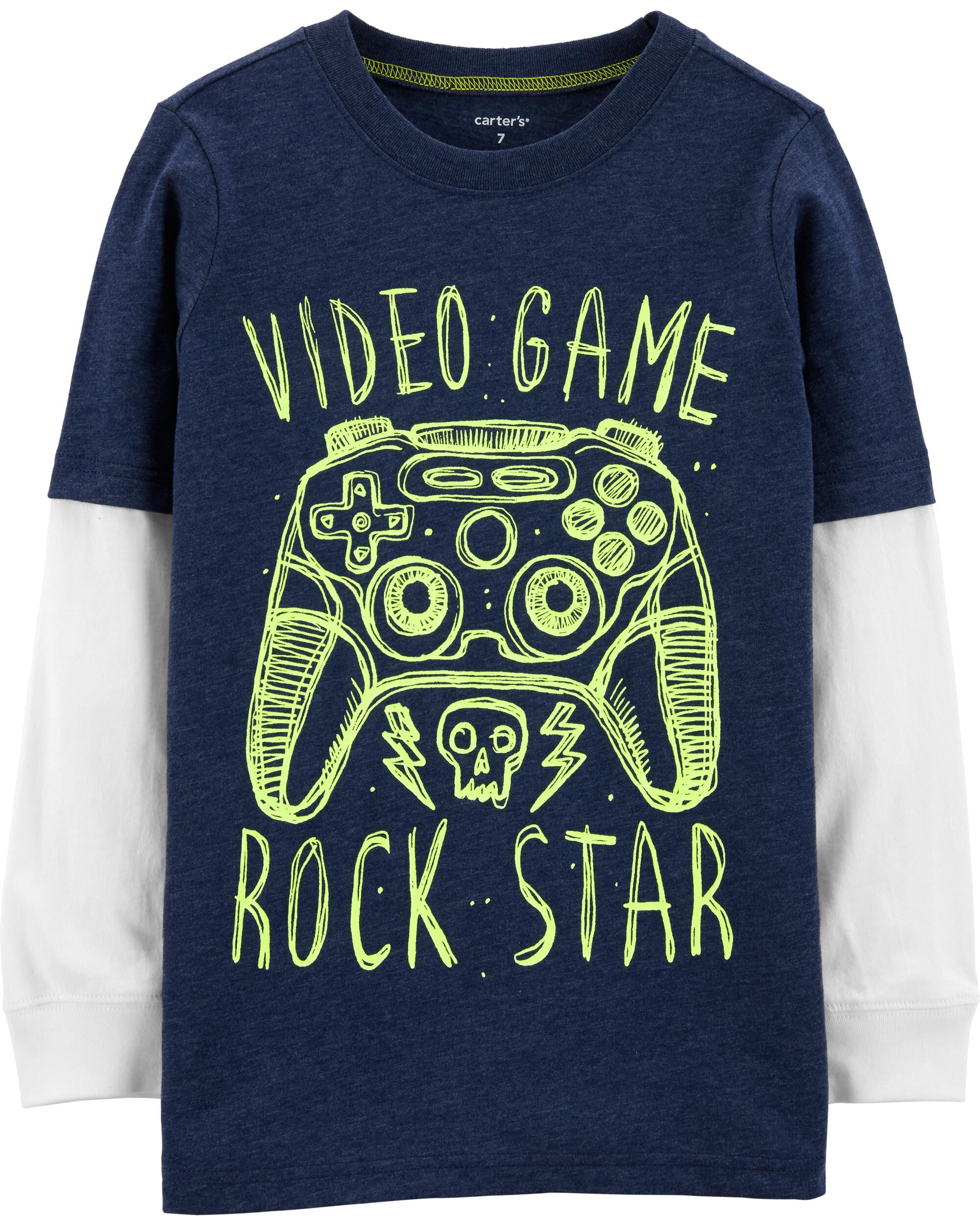 *Clearance*  Video Game Snow Yarn Layered-Look T...