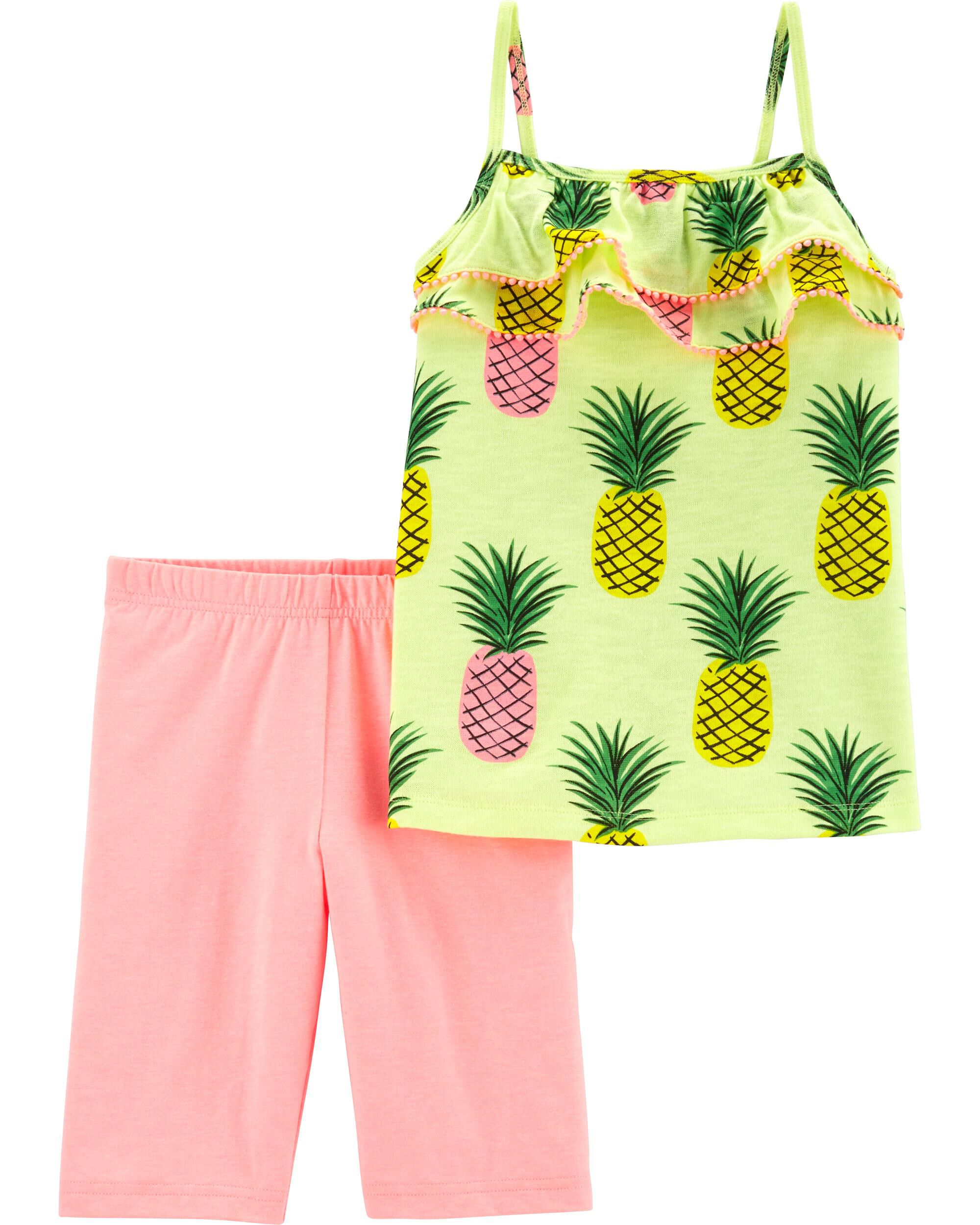 *Clearance*  2-Piece Neon Pineapple Tank & Tumbl...