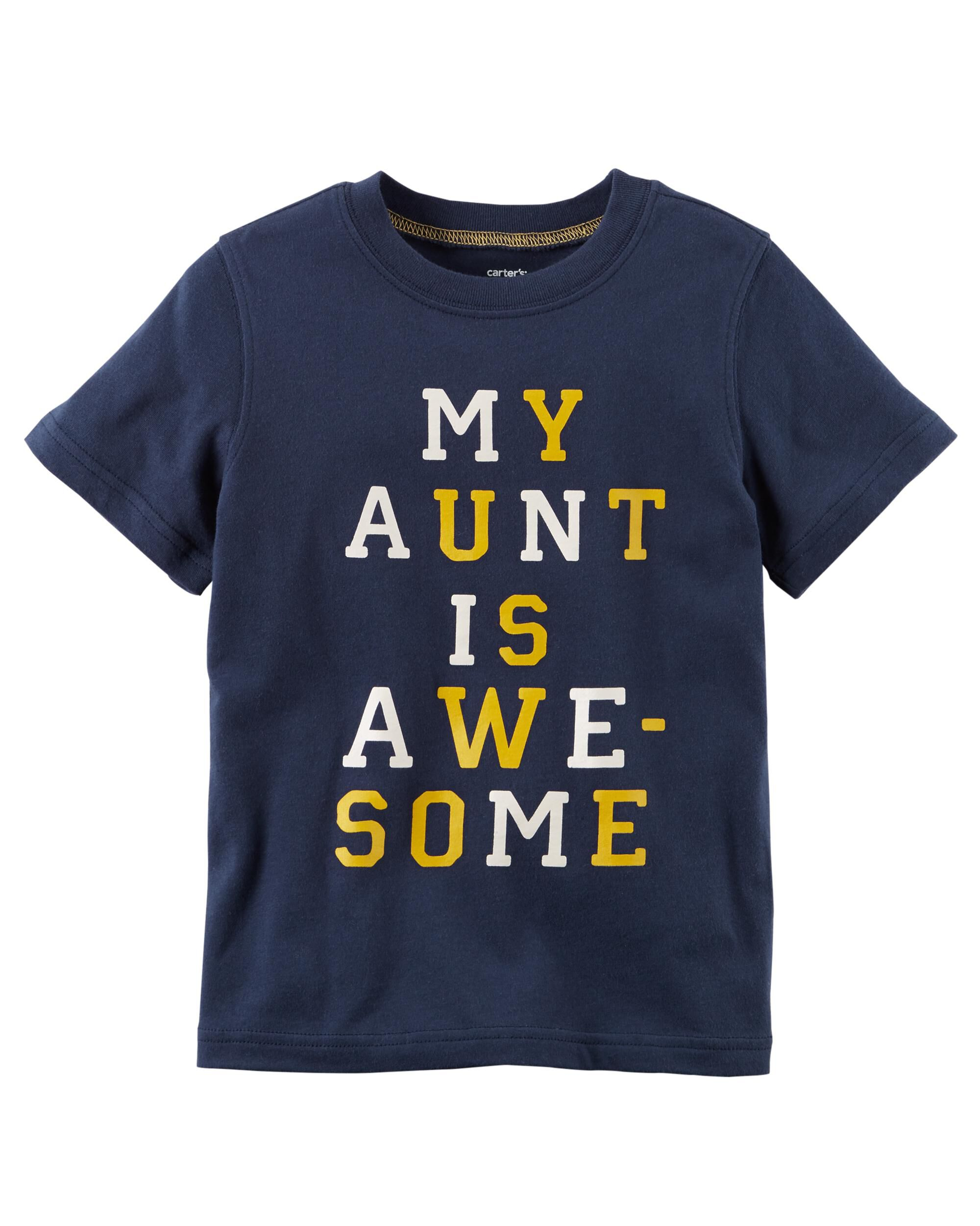 *Clearance*  Aunt Is Awesome Jersey Tee
