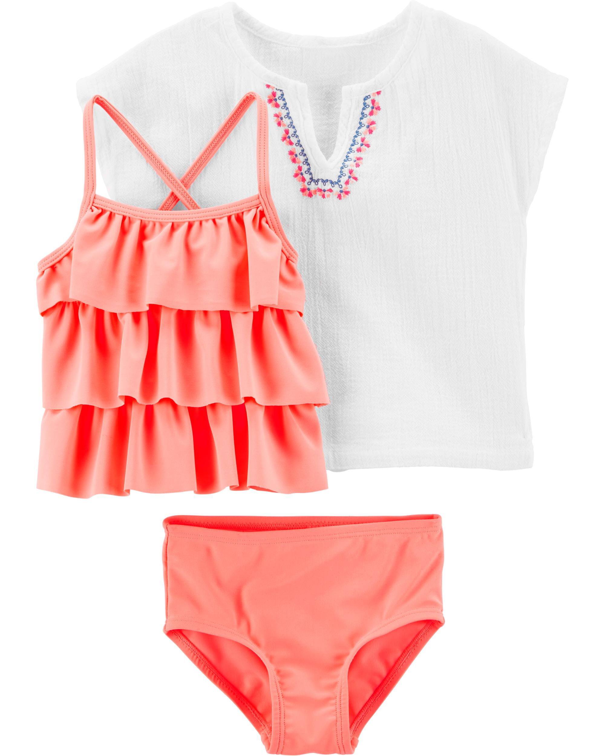 *Clearance*  Carter's 3-Piece Tankini & Cover-Up...