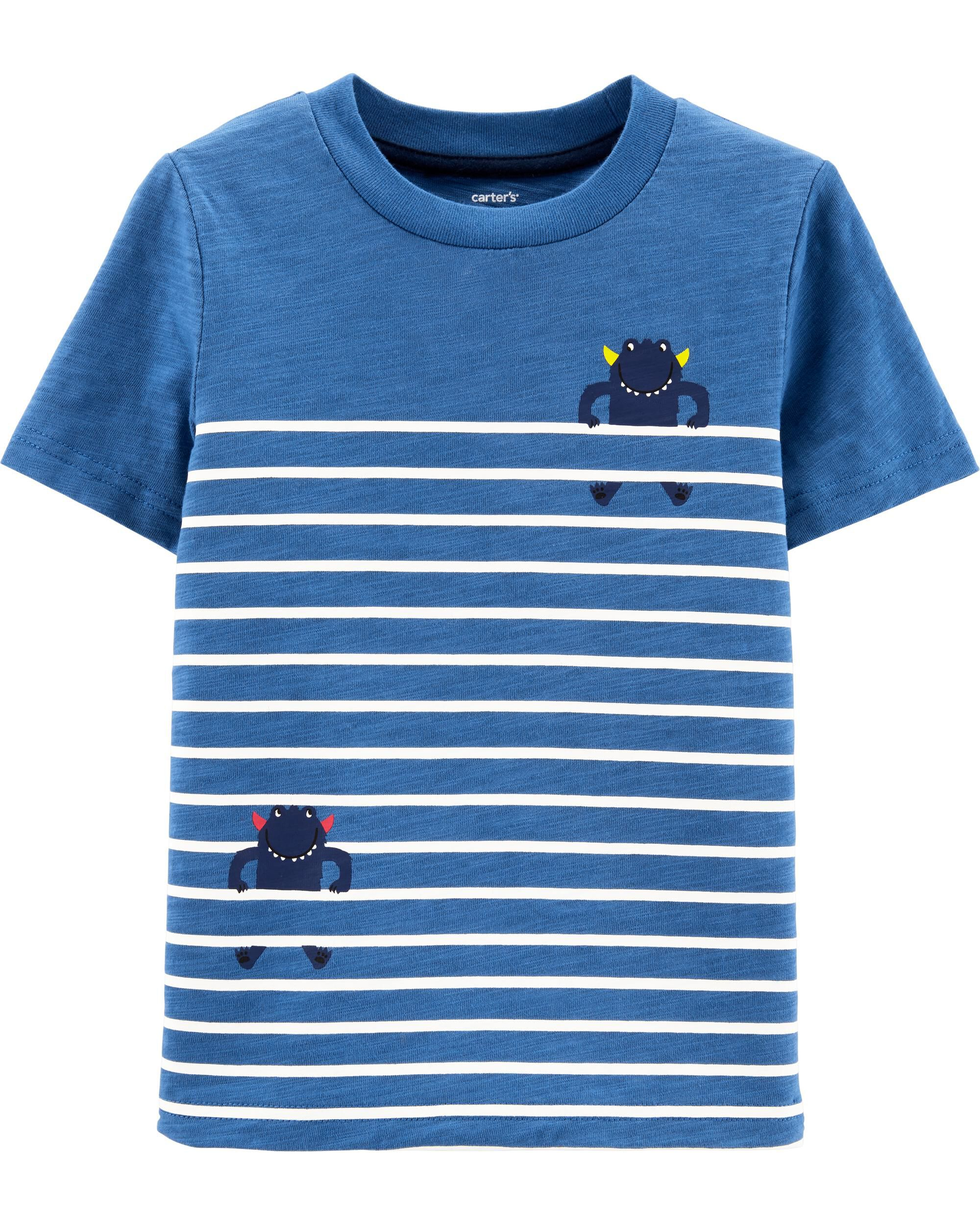 *Clearance*  Striped Monster Slub Jersey Tee