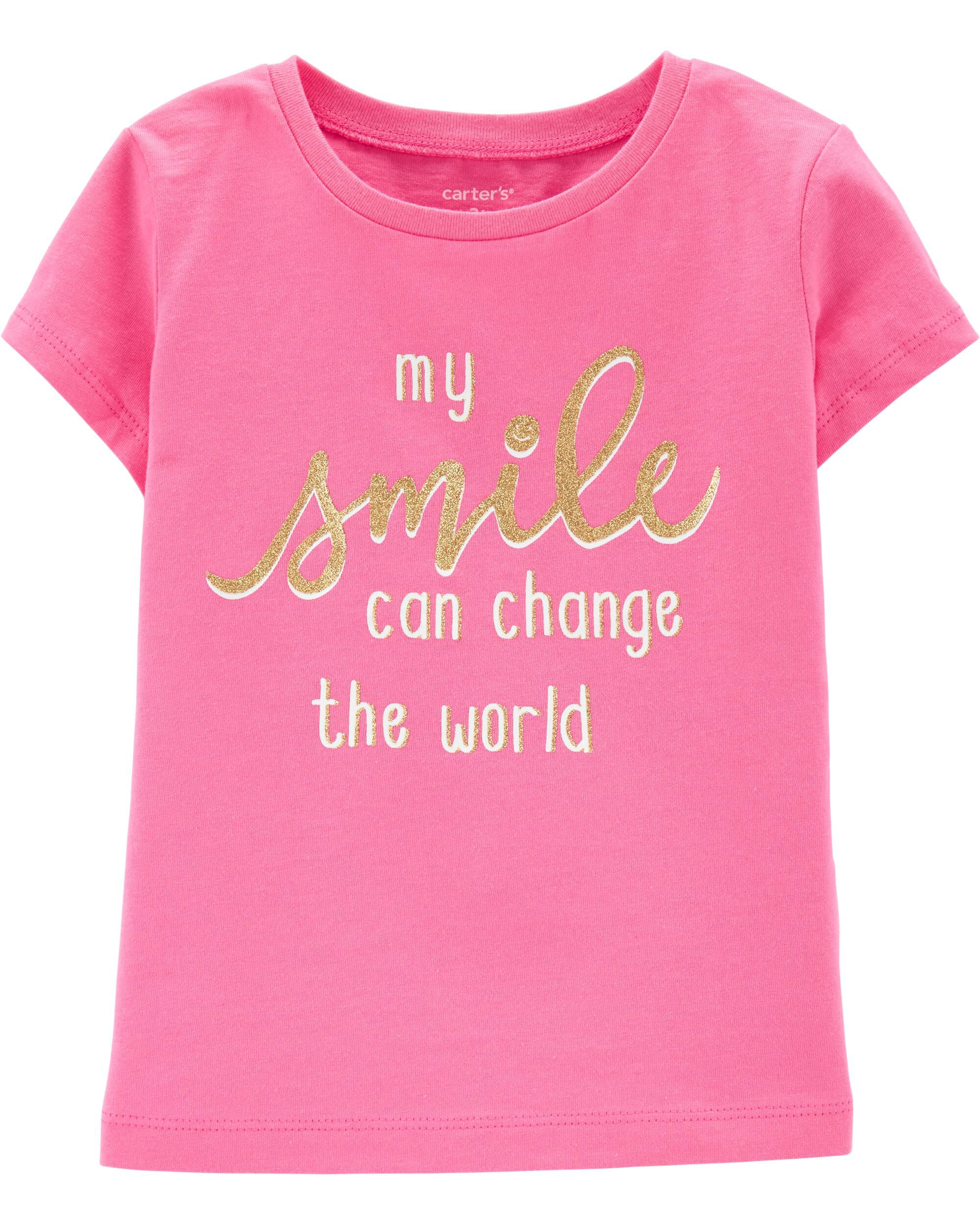 *Clearance*  Glitter Smile Jersey Tee