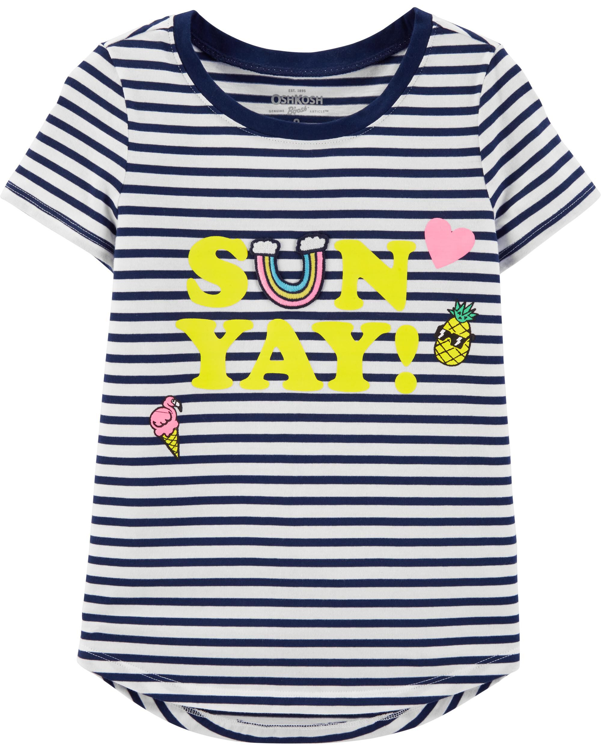 *Clearance*  Striped Sunyay Top