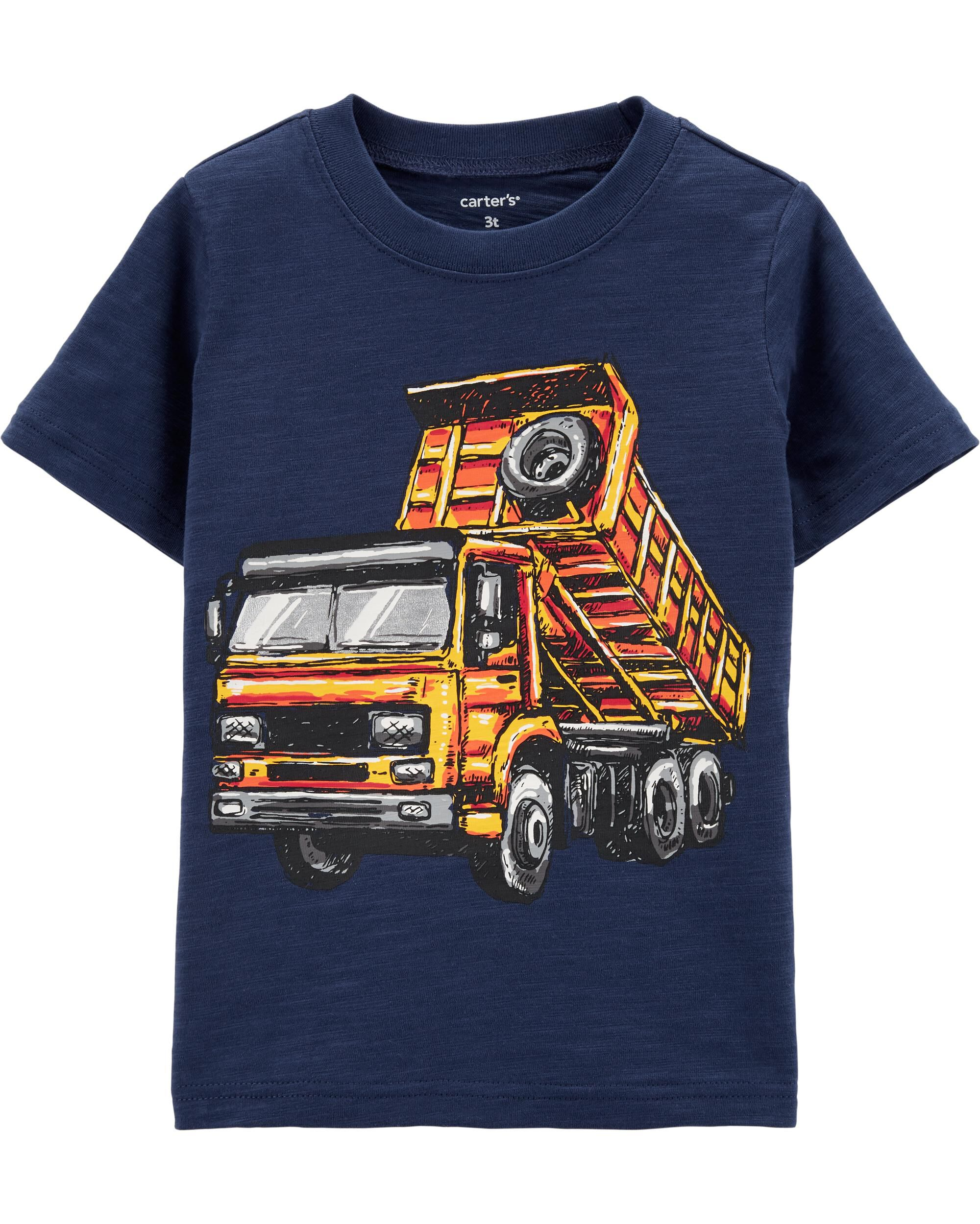 *Clearance*  Construction Truck Slub Jersey Tee