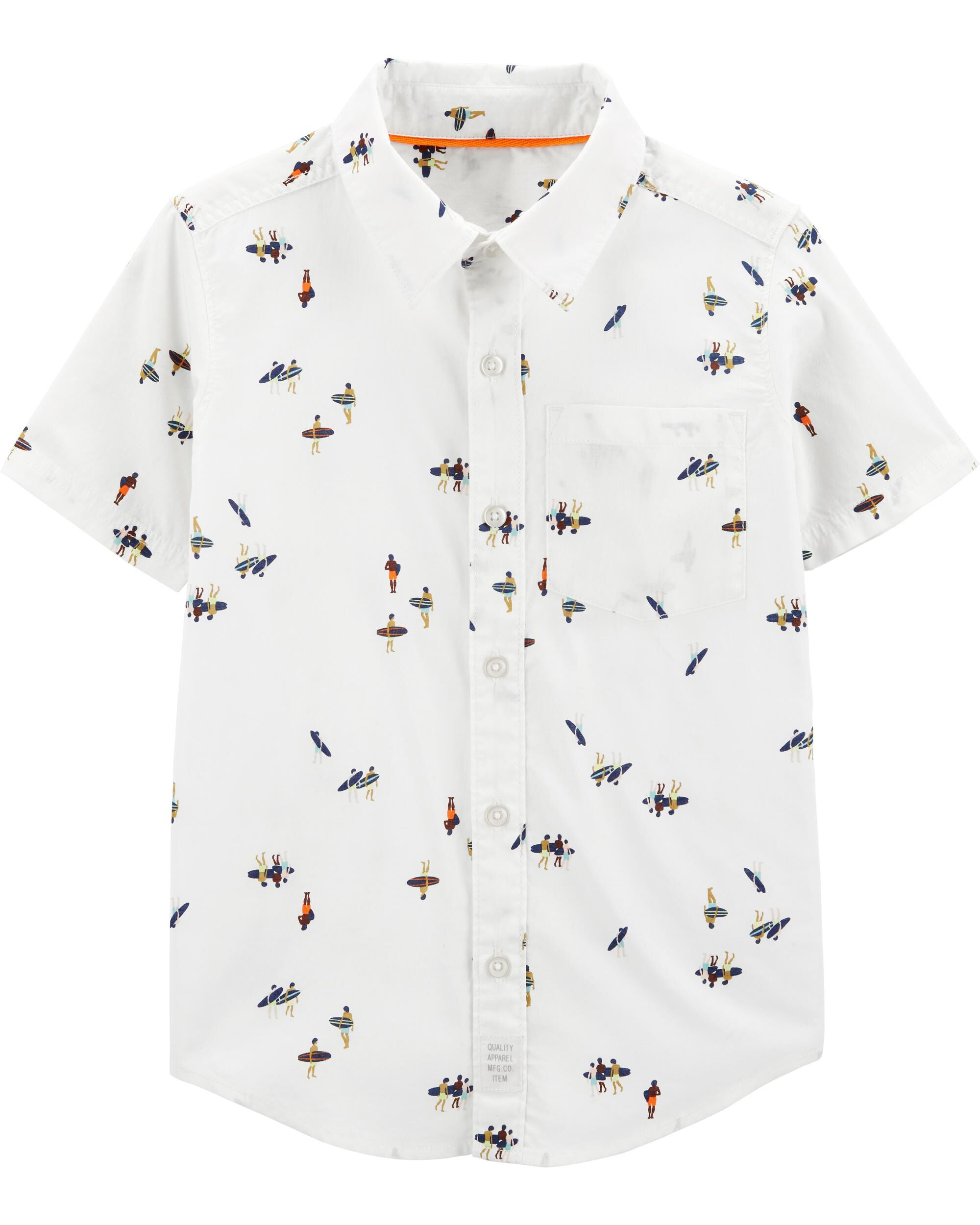 *Clearance*  Surfer Button-Front Shirt
