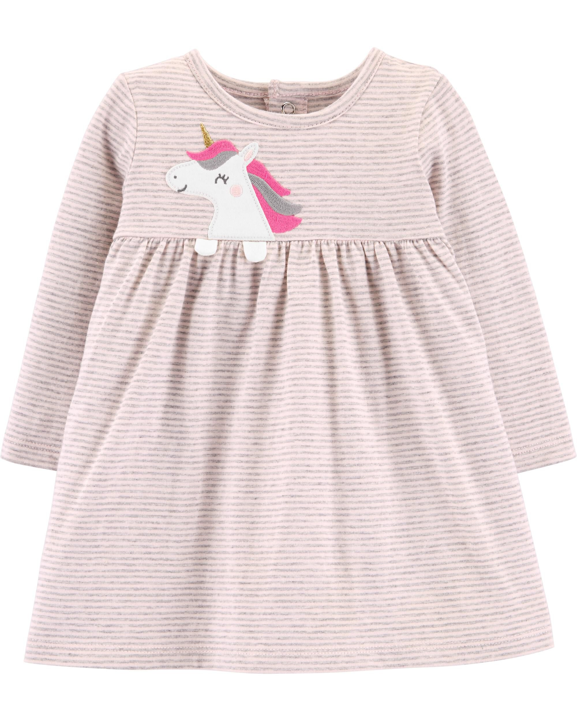 *Clearance*  Striped Unicorn Jersey Dress