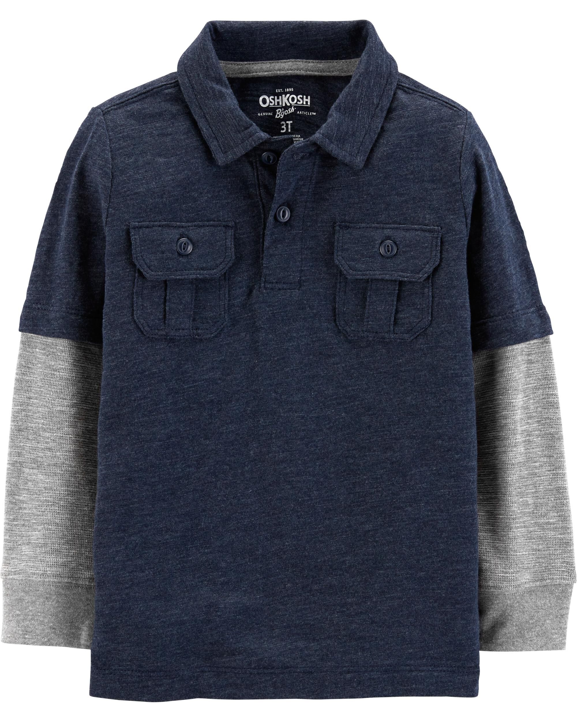 *Clearance*  Layered Look Polo