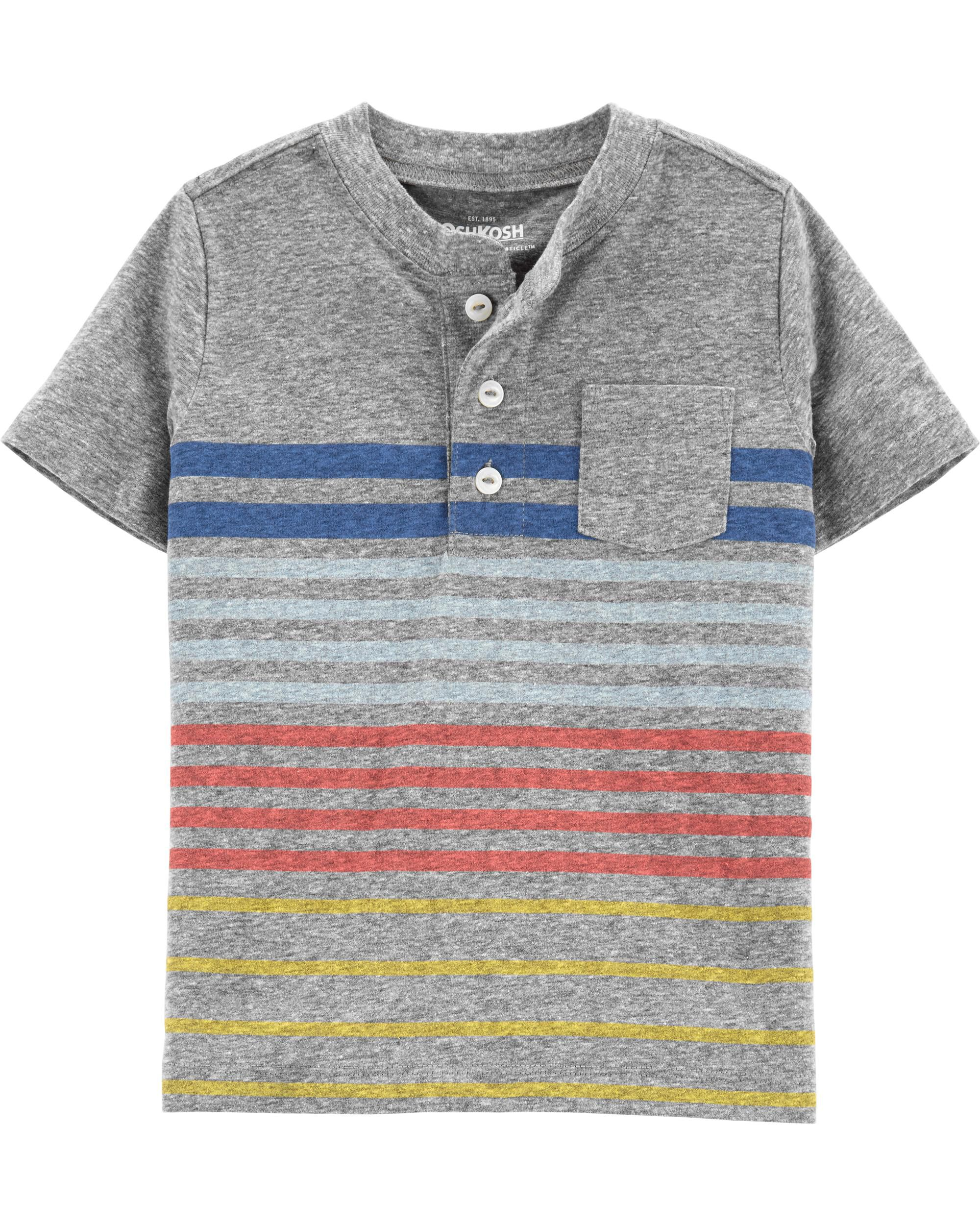 *Clearance*  Striped Pocket Henley