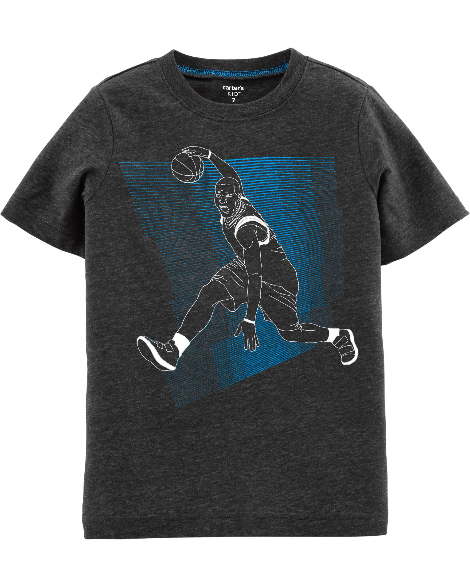 *Clearance*  Basketball Snow Yarn Tee