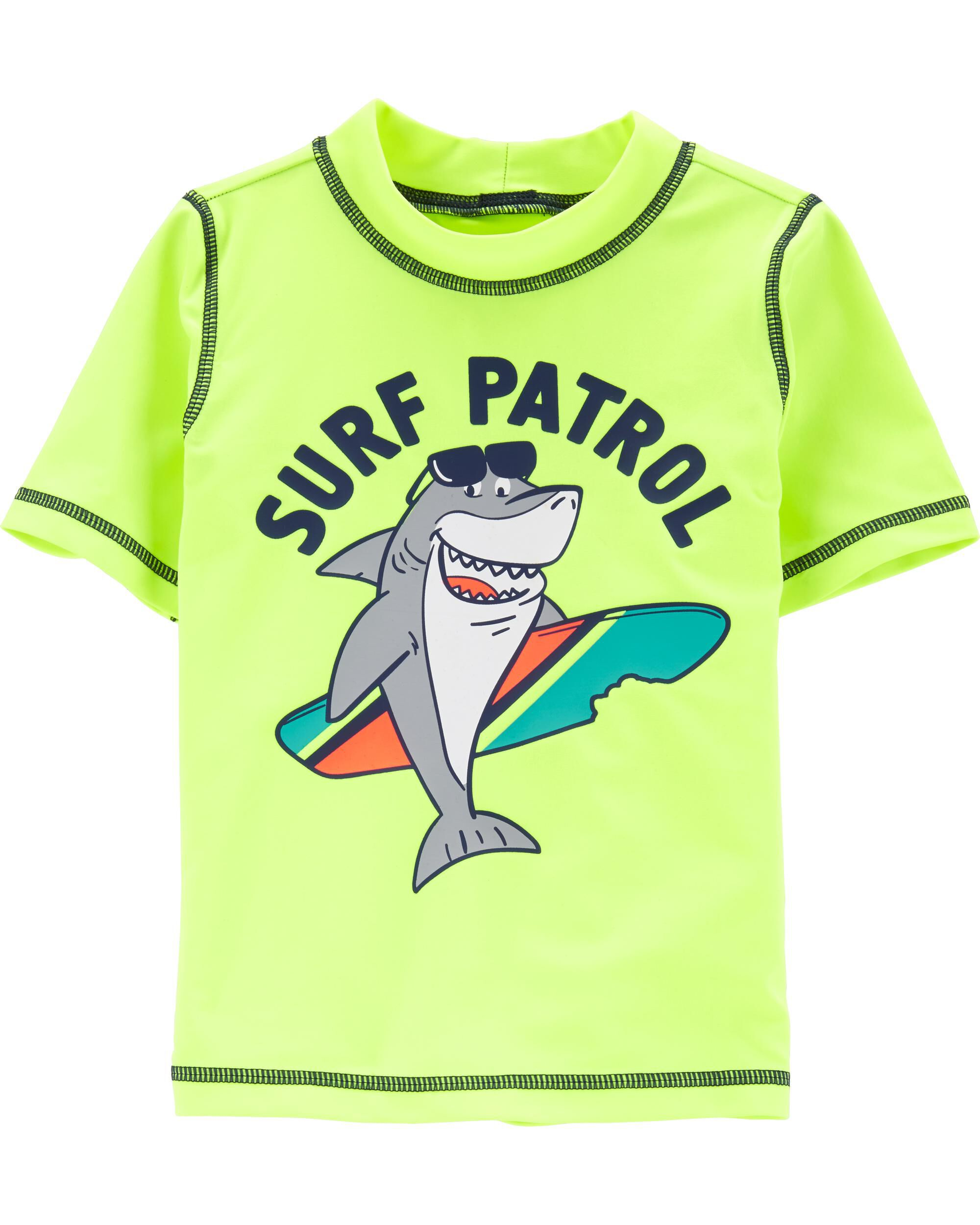 *Clearance*  Carter's Neon Shark Surf Patrol Ras...