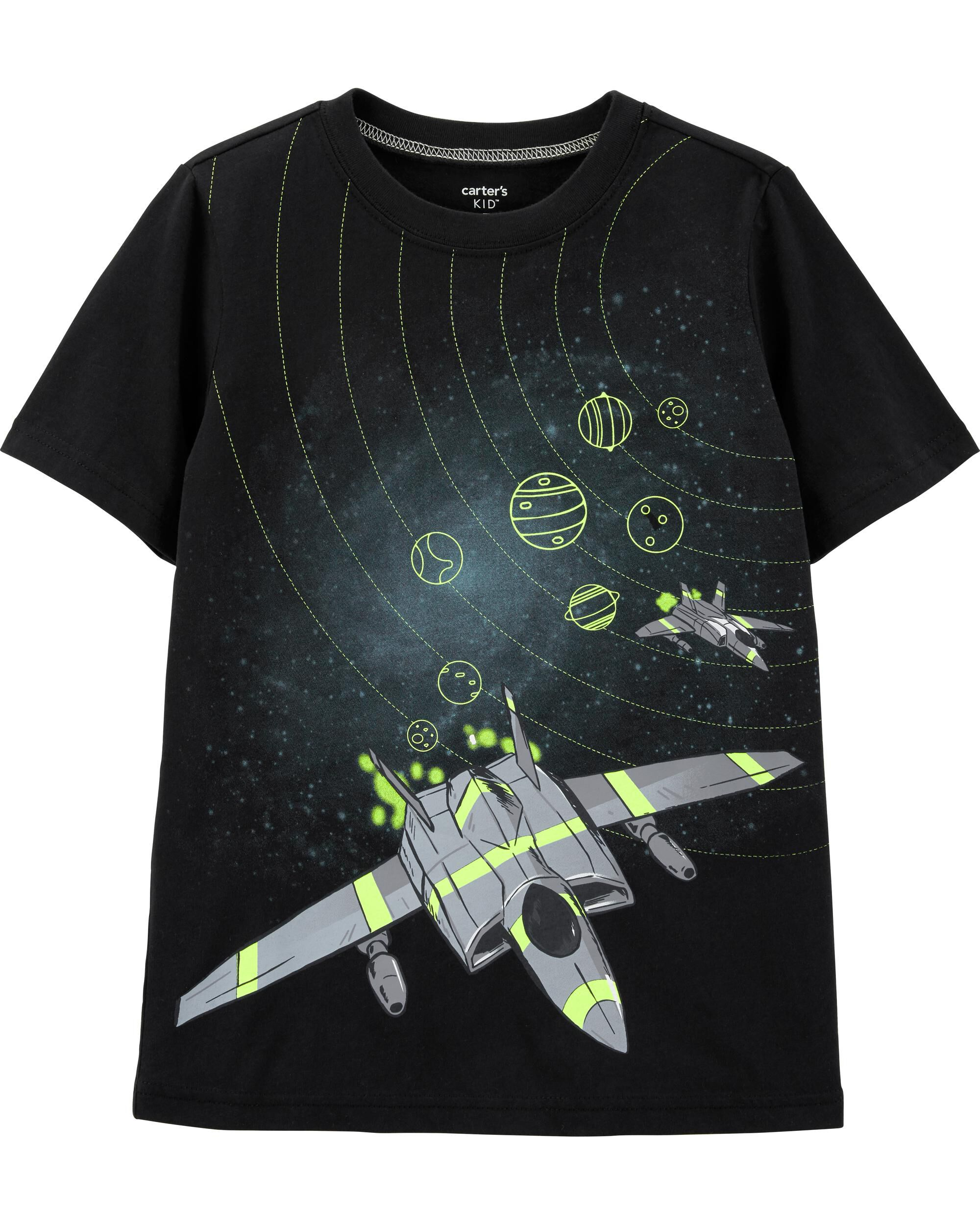 *Clearance*  Space Rocket Ship Jersey Tee